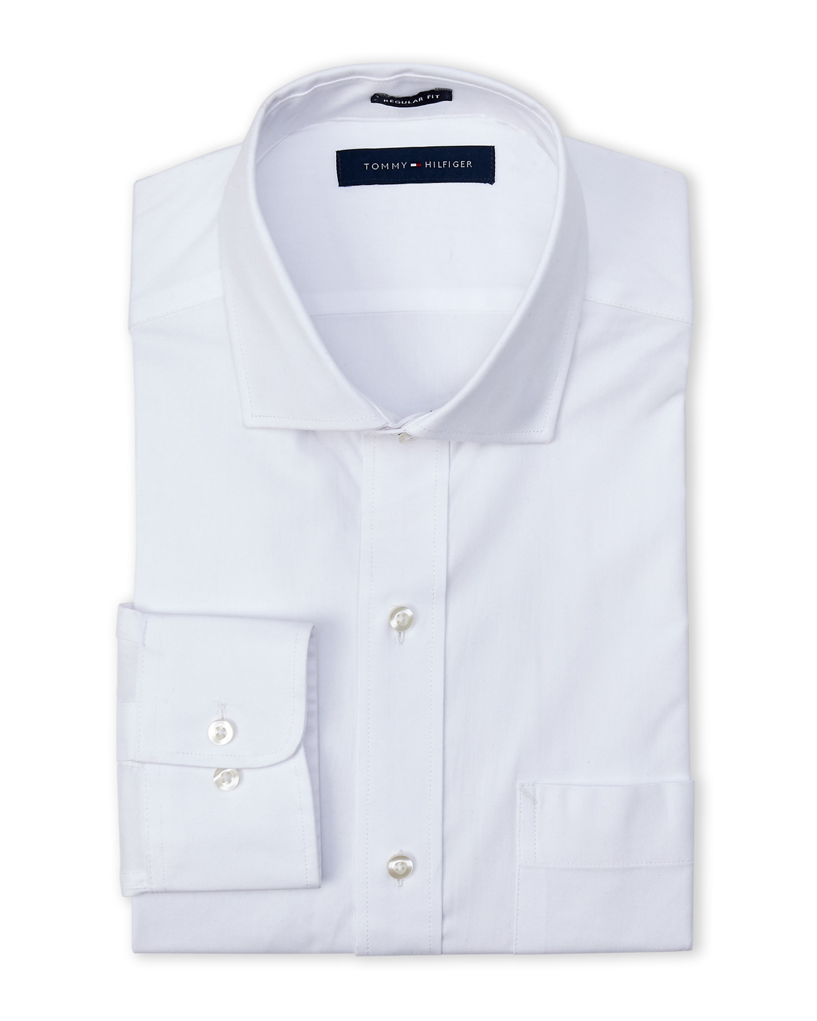 Tommy hilfiger white regular fit dress shirt in white for for Century 21 dress shirts
