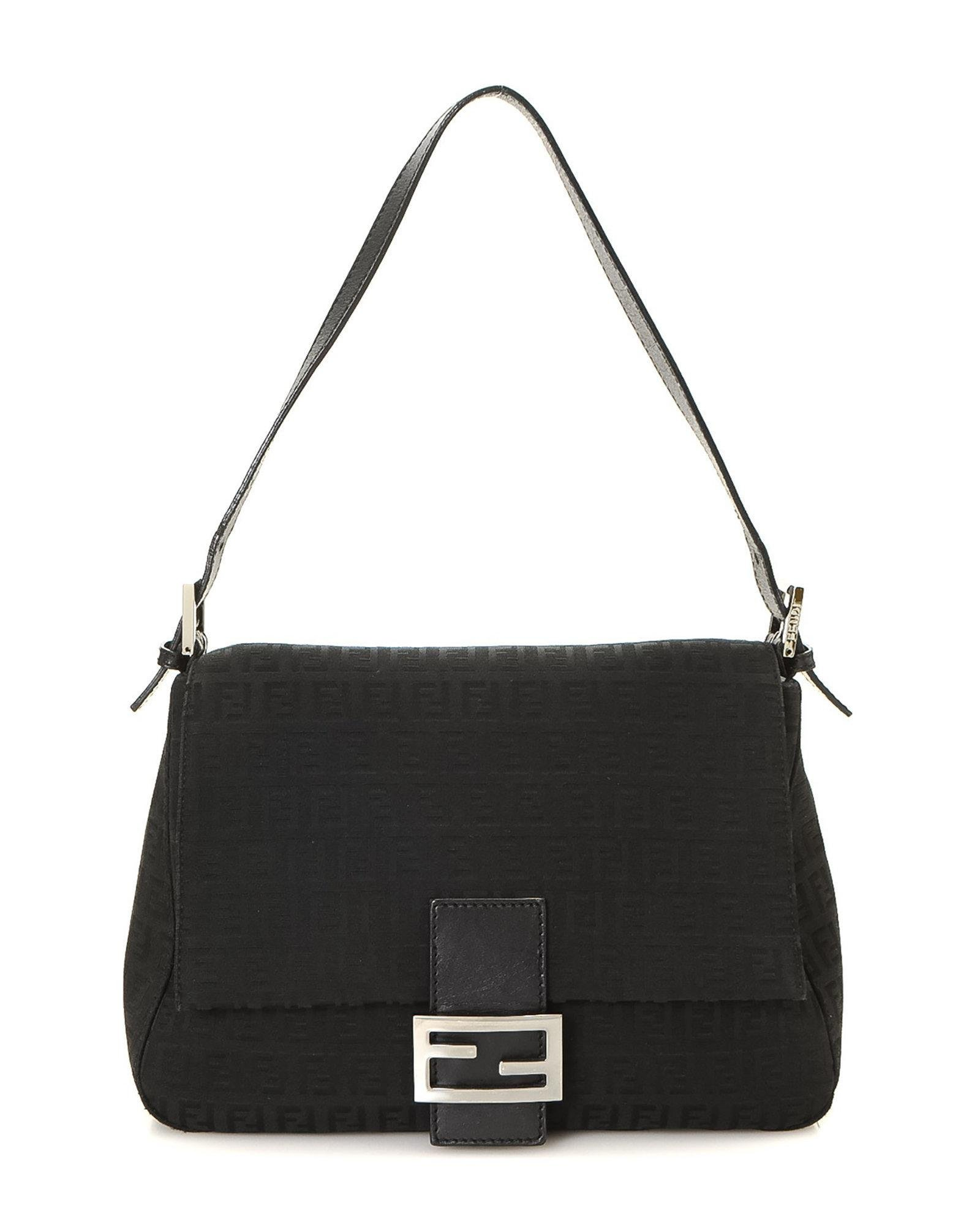 d164521463 Lyst - Fendi Zucchino Mamma Baguette Shoulder Bag - Vintage in Black