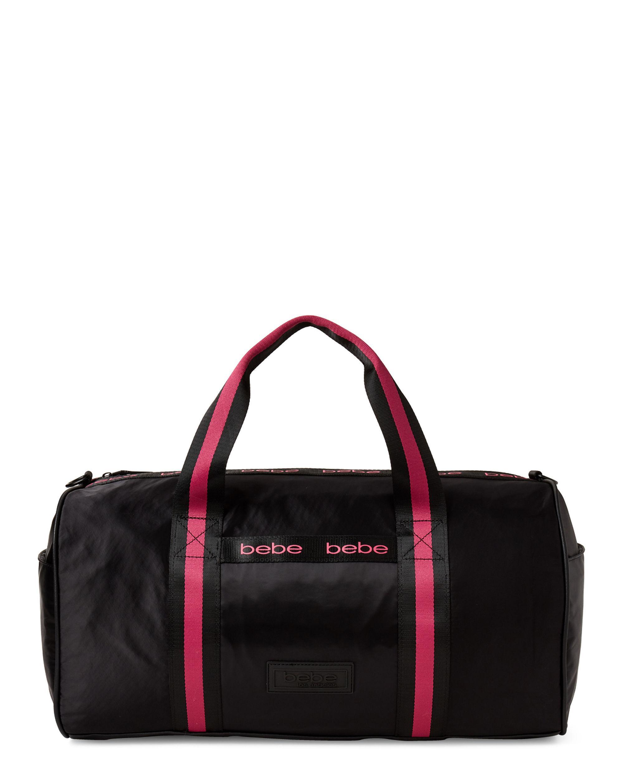 921a8047396e63 Lyst - Bebe Jordan Stripe Duffel in Black
