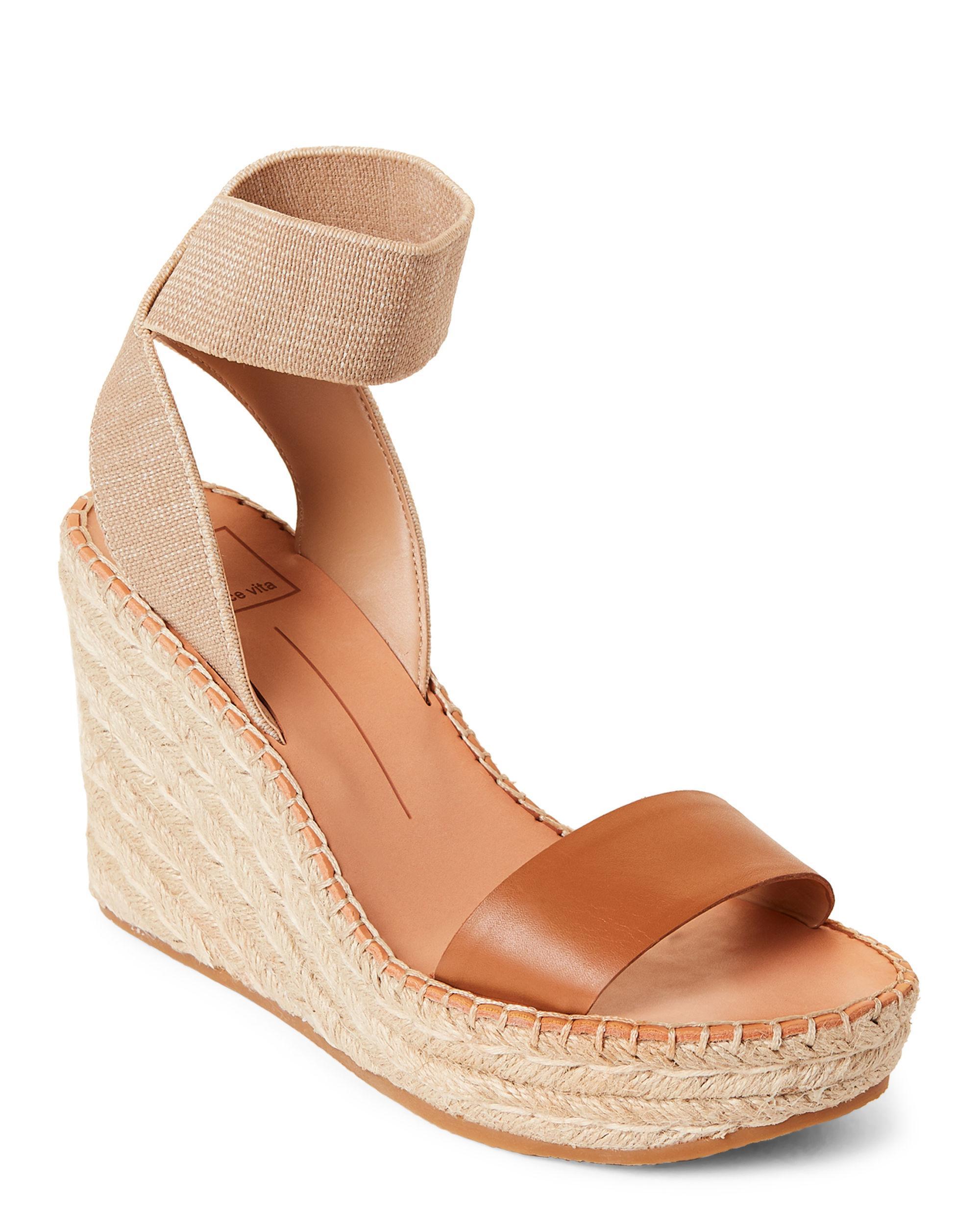 1b2679b2613 Lyst - Dolce Vita Pavlin Espadrille Wedge Sandals in Brown