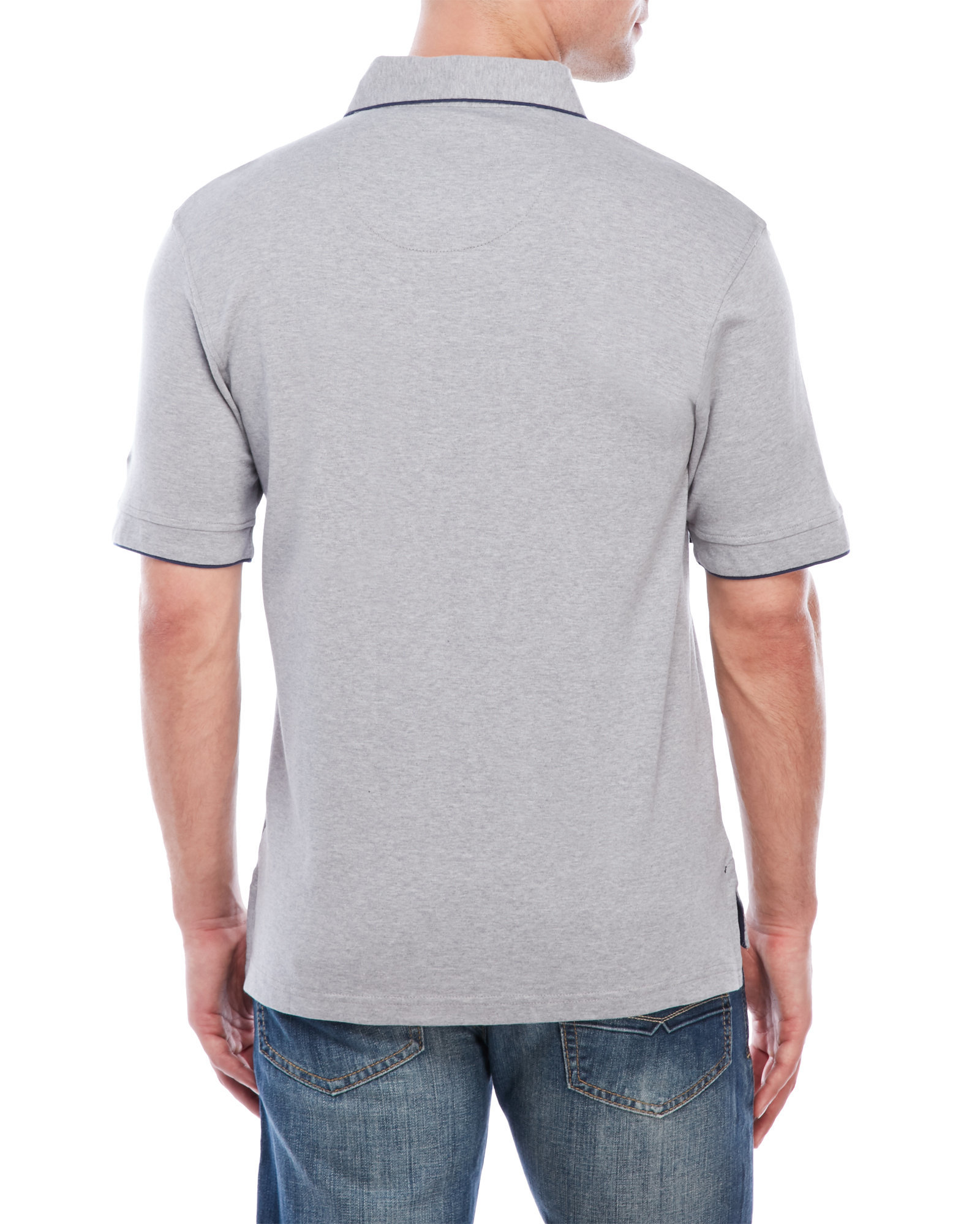 English laundry pima polo shirt in gray for men lyst for Century 21 dress shirts
