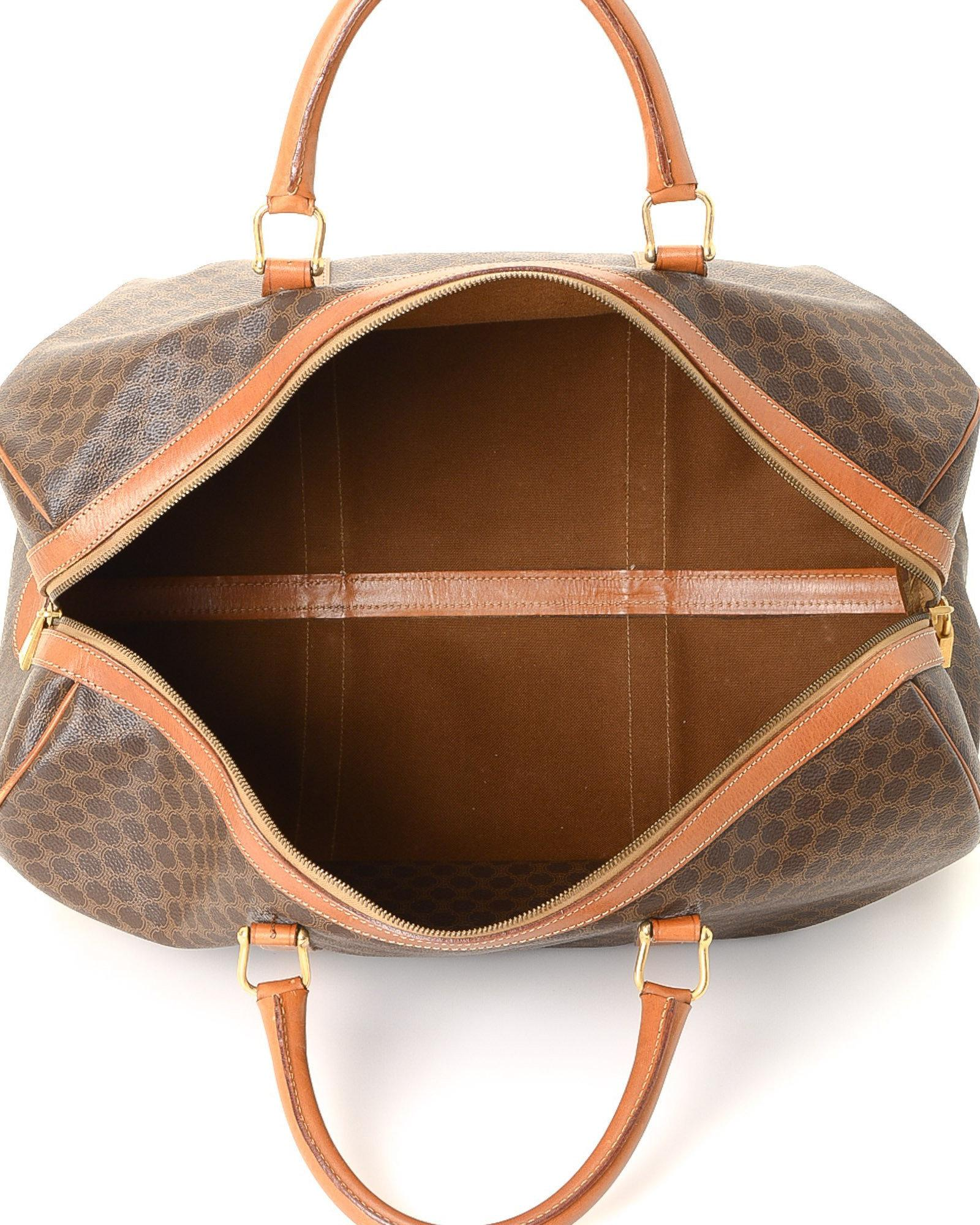 f55f01bd3151 Lyst - Céline Macadam Travel Bag - Vintage in Brown