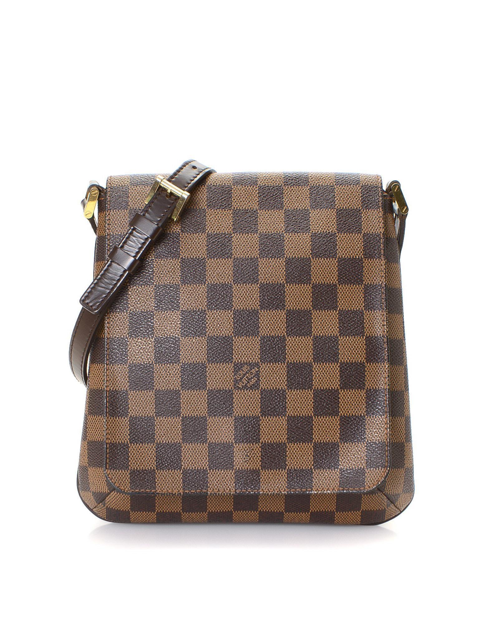 Lyst - Louis Vuitton Damier Ebene Musette Salsa Long Strap Crossbody ... 0701222a27