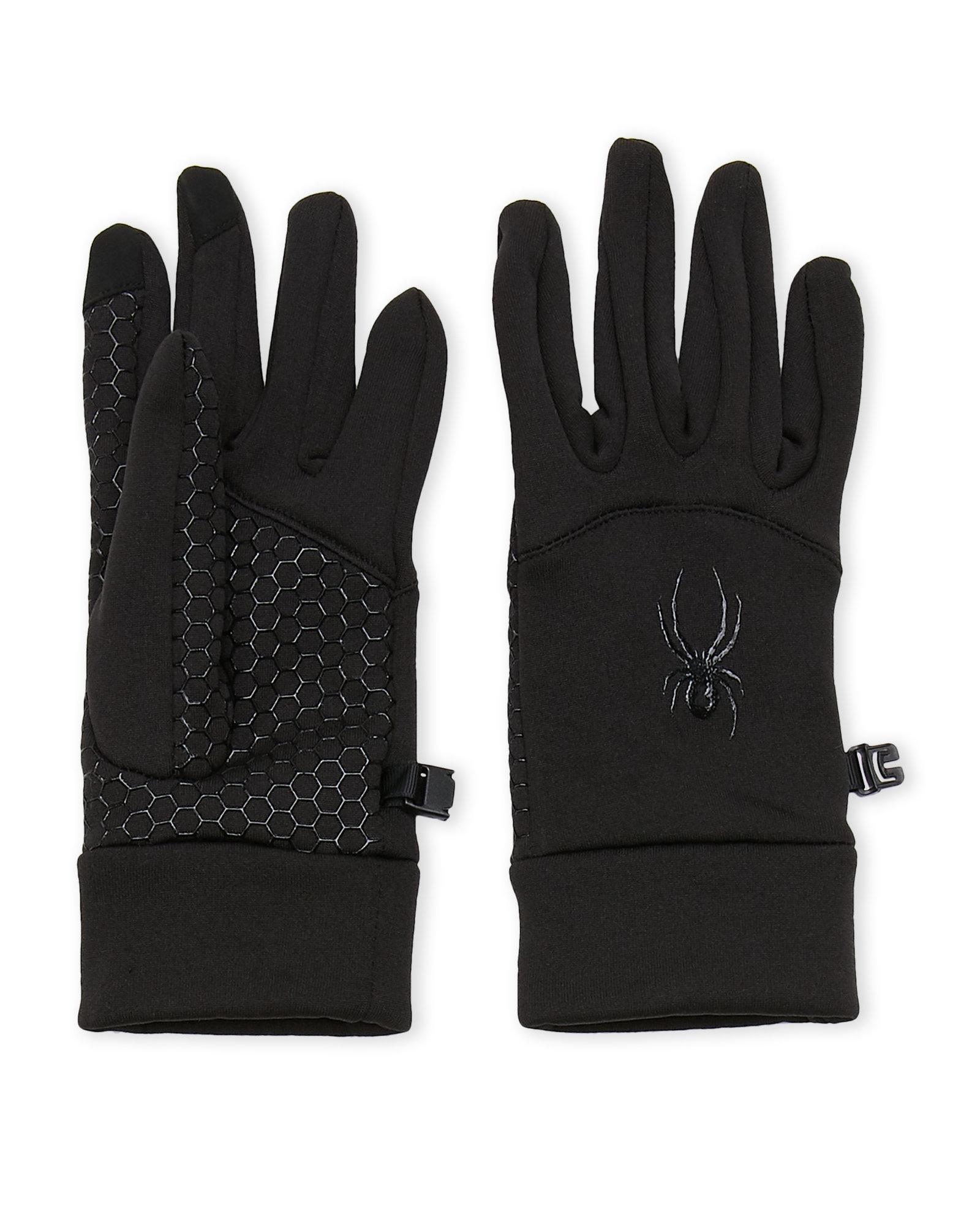 Lyst - Spyder Touchscreen Stretch Fleece Gloves in Black 85323a7a92