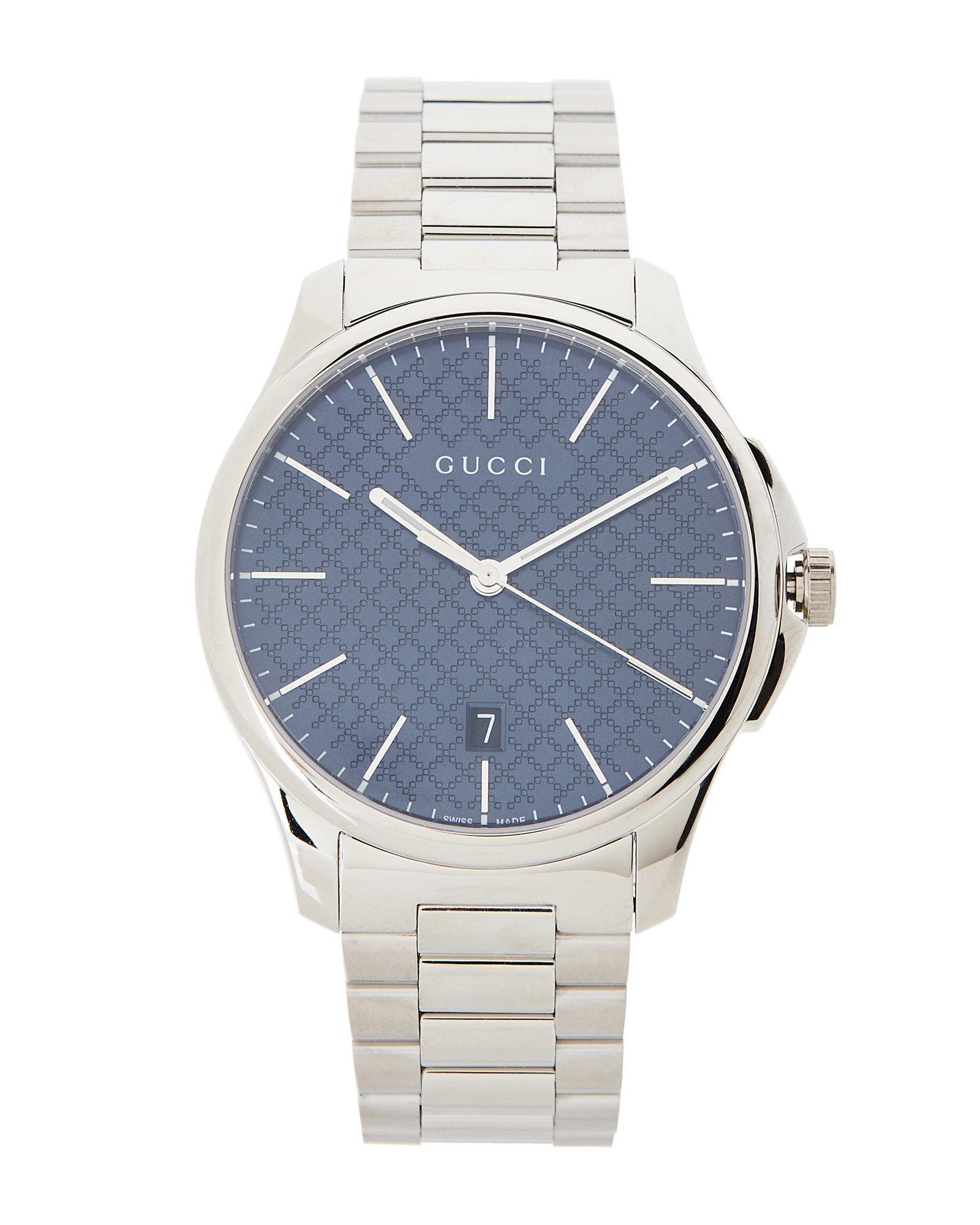 4c57c5590b1 Lyst - Gucci Ya126316 G-timeless Silver-tone   Blue Watch in ...