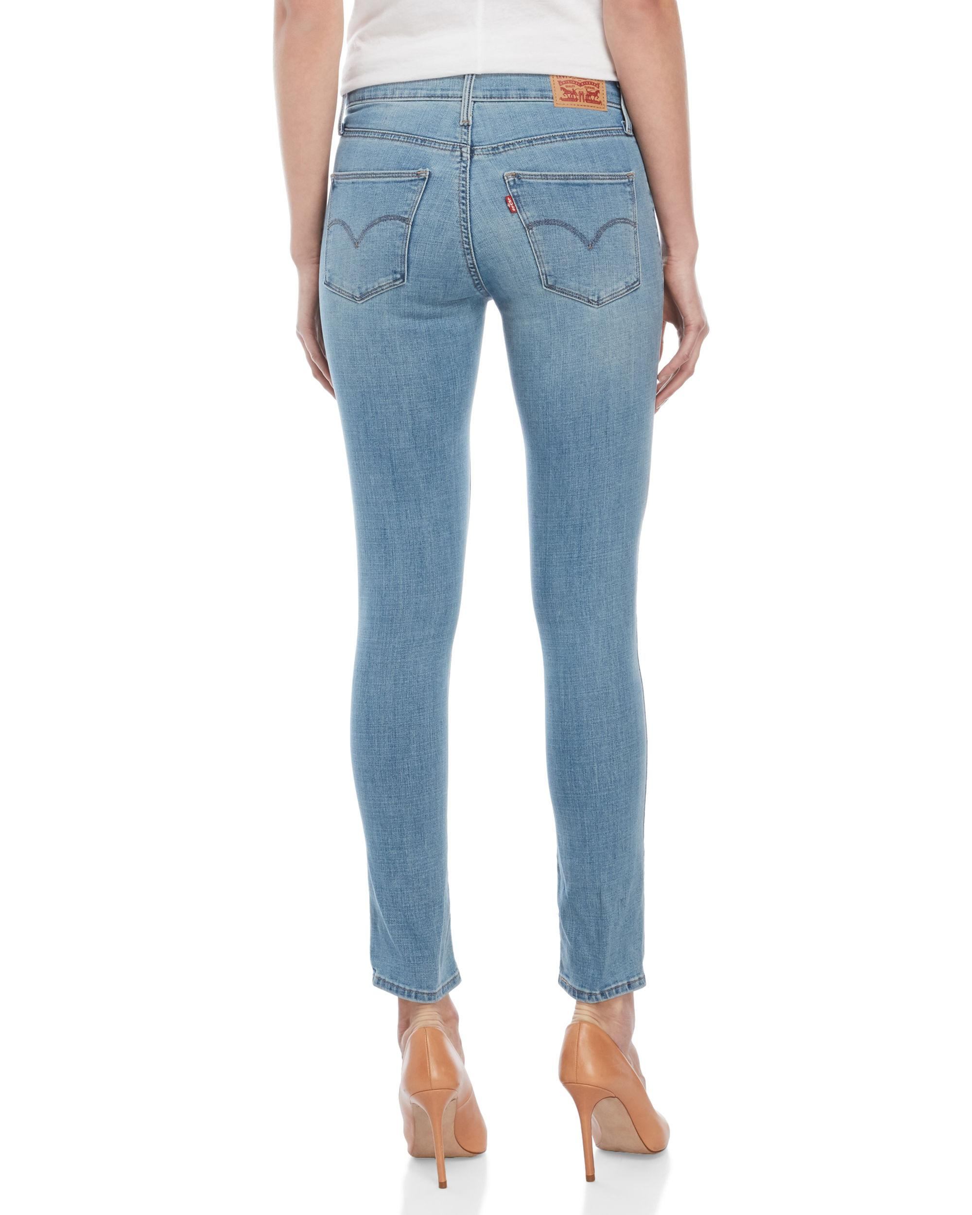 Starry Slimming Jeans Lyst Blue In Levi's Bright Skinny lK1TFJc3
