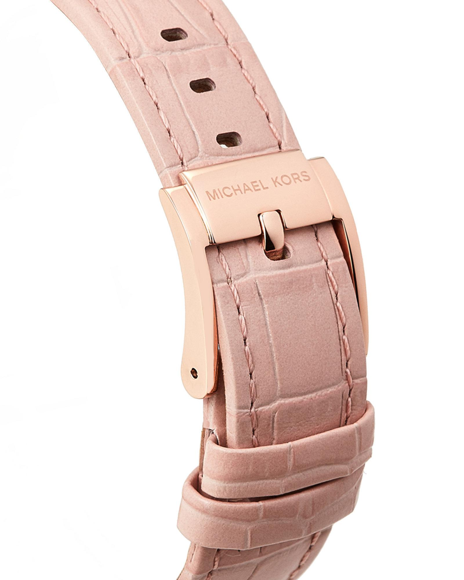 7ae7ecd83d6a Lyst - Michael Kors Mk2718 Rose Gold-tone Courtney Watch in Pink