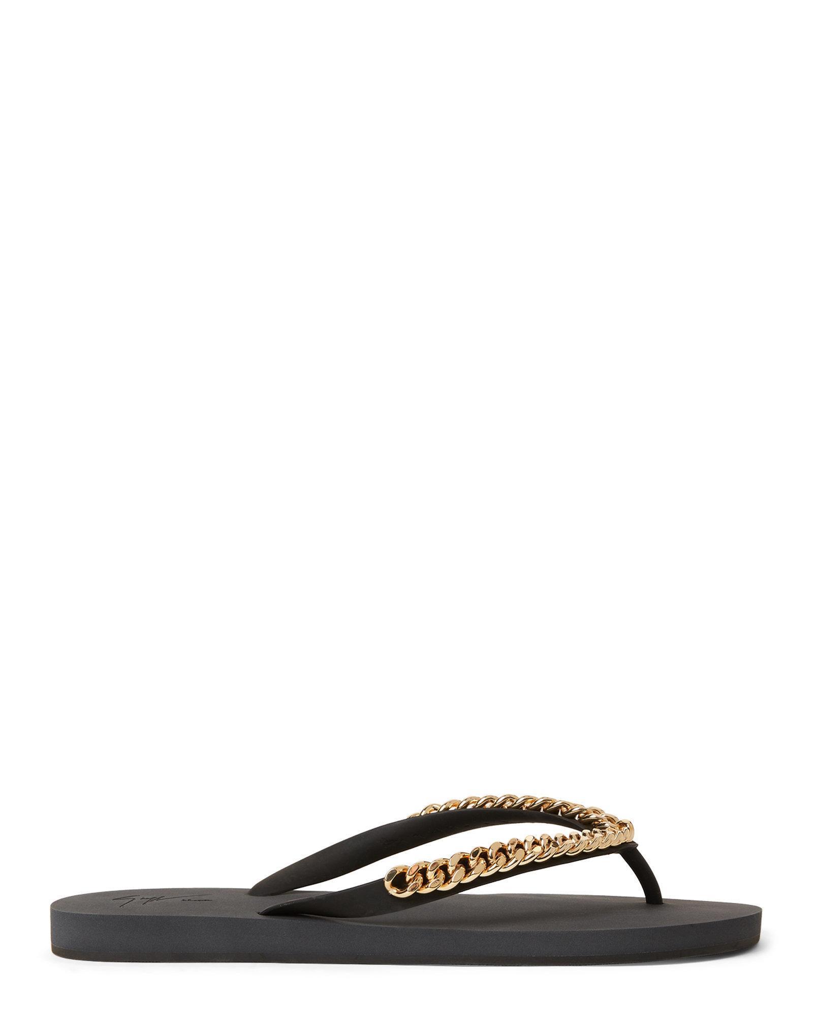 6ff97a419 Lyst - Giuseppe Zanotti Chain Link Flip Flops in Black