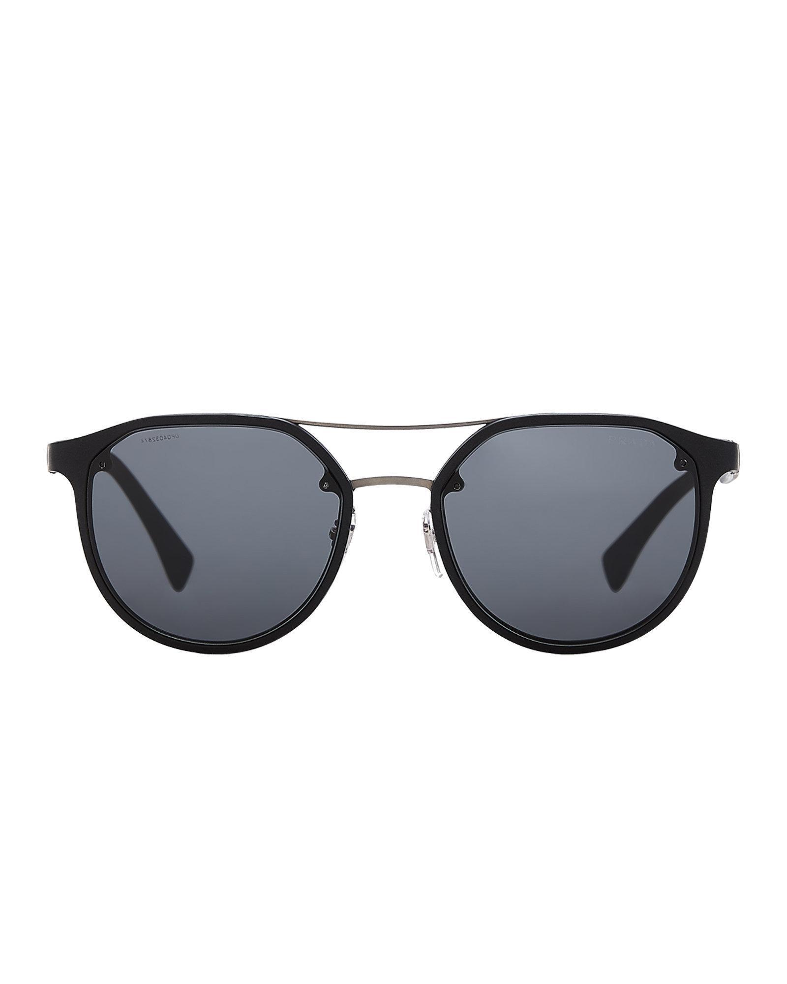 7ac9d68d20dc ... france lyst prada sport sps 55s black round sunglasses in black for men  32341 3dab5