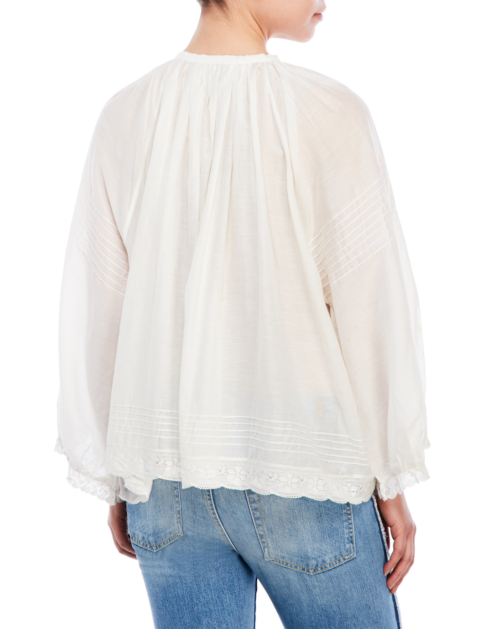 Lyst Zadig amp Voltaire Trone Deluxe Oversized Blouse in White