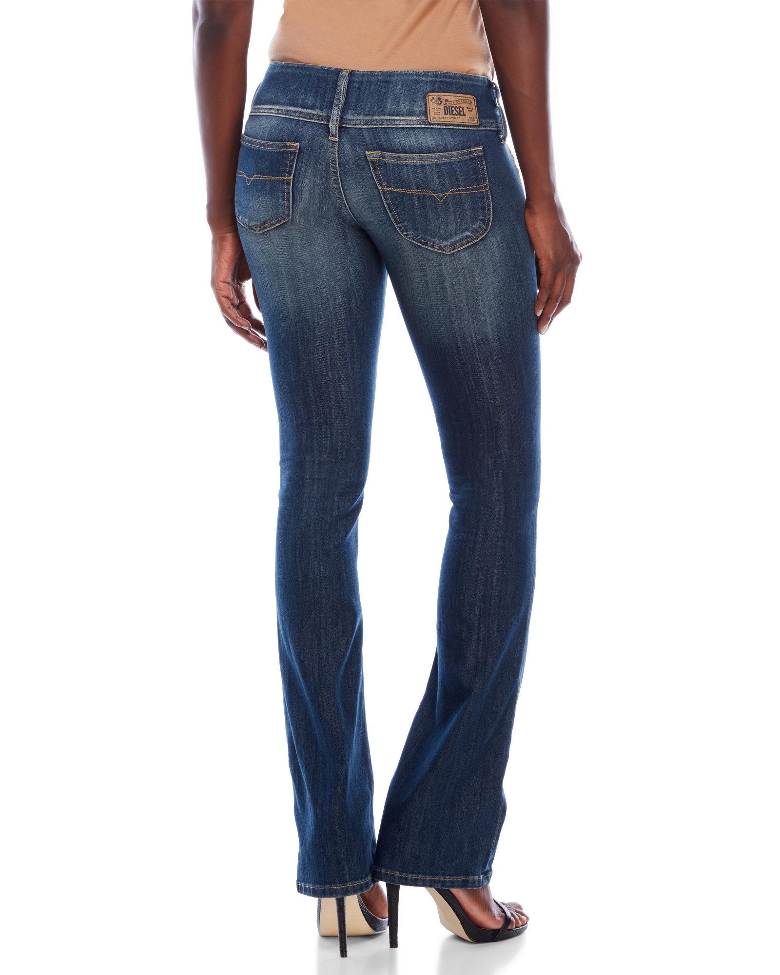 Diesel Denim Cherock Regular Slim Bootcut Jeans In Dark
