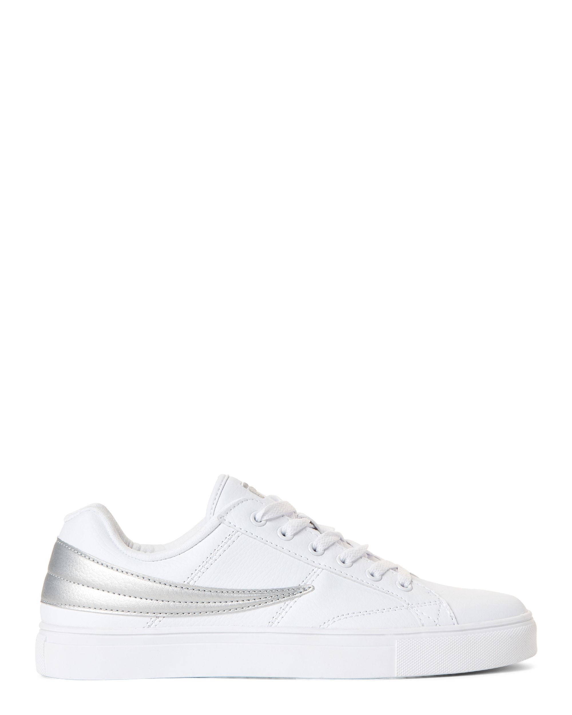 ac49bc34b951 Lyst - Fila White   Silver Smokescreen Low-top Sneakers in White