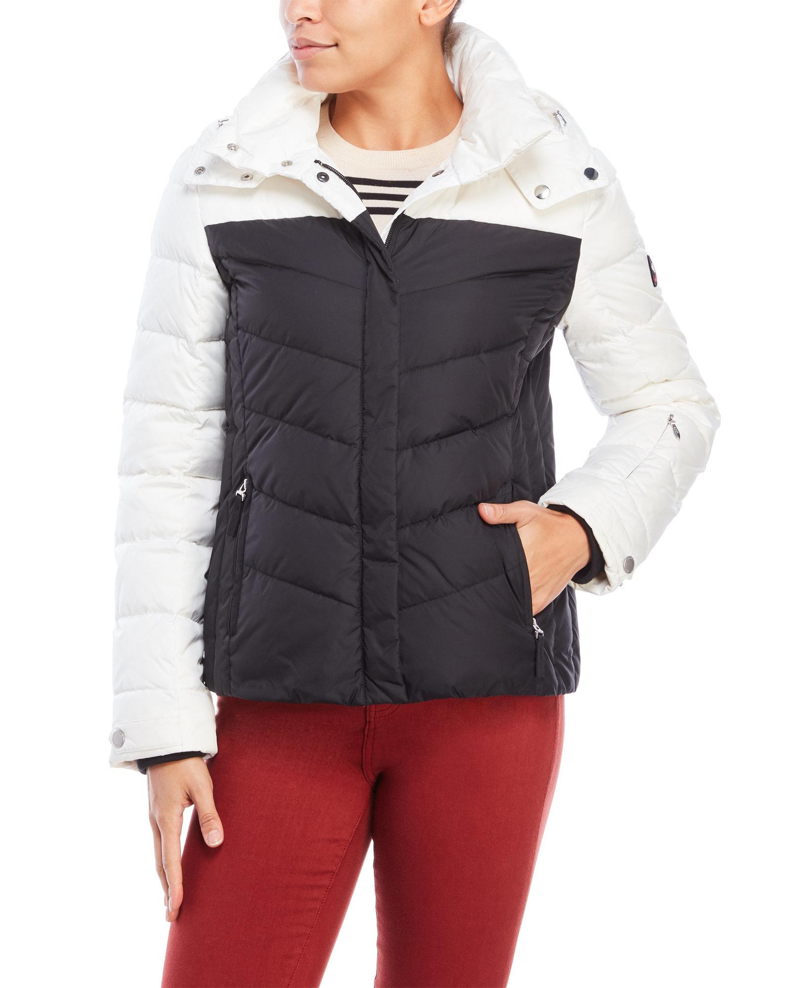 4668584f3c Lyst - Bogner Fire + Ice Sally D Hooded Down Jacket in Black