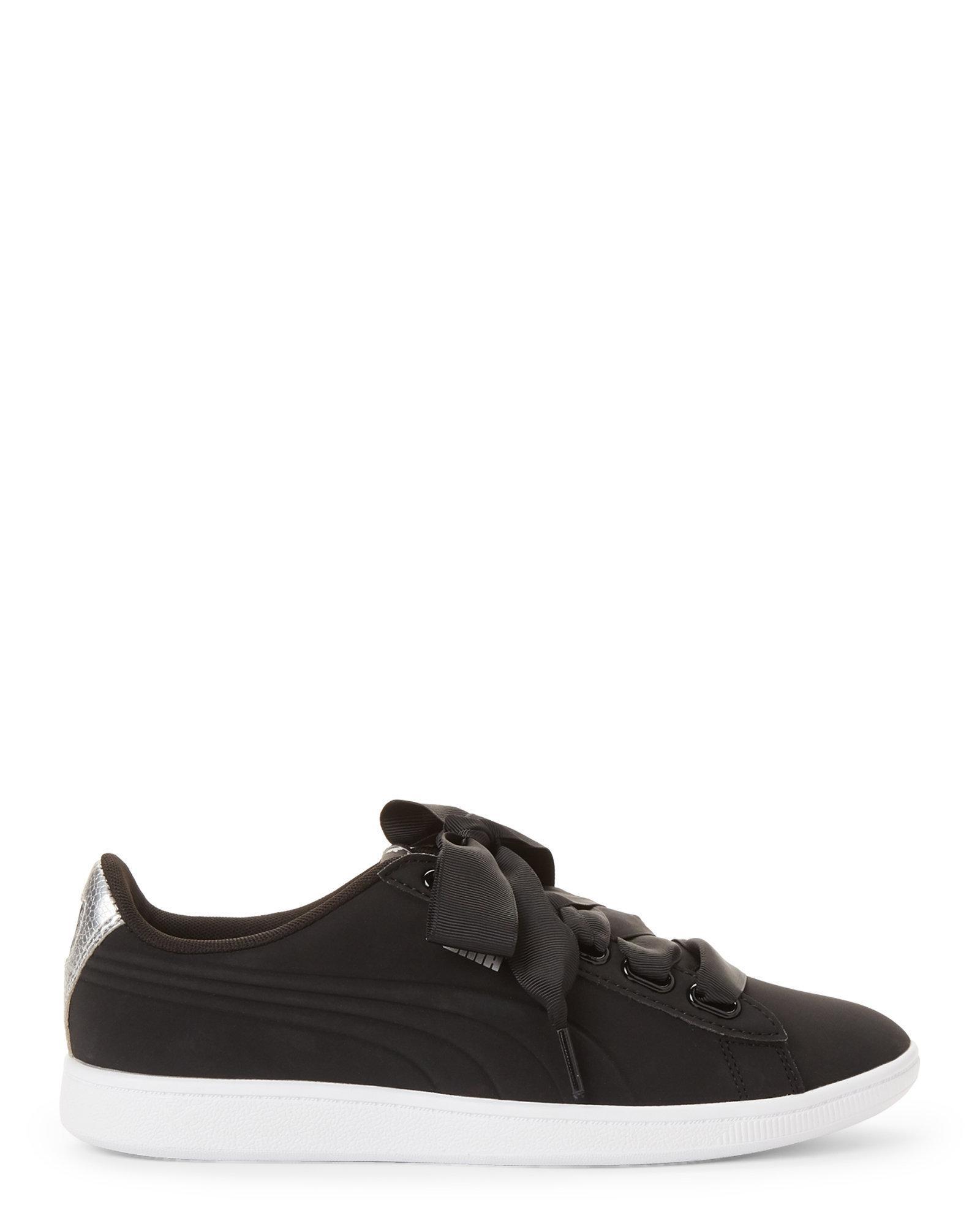 a0fa2a85495 Lyst - Puma Vikky Ribbon Sneakers in Black