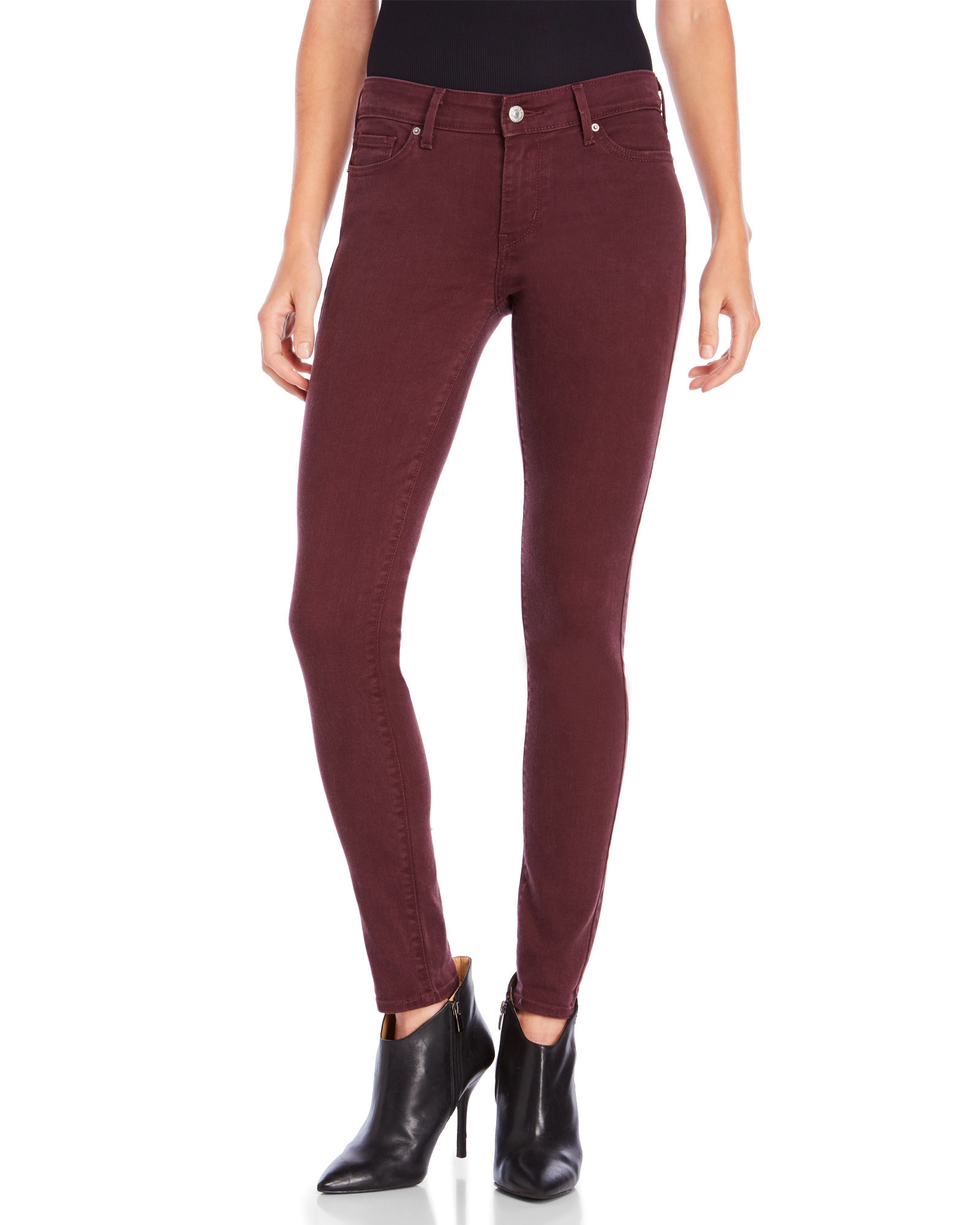 levi 39 s soft twill allspice 711 skinny jeans in purple lyst. Black Bedroom Furniture Sets. Home Design Ideas