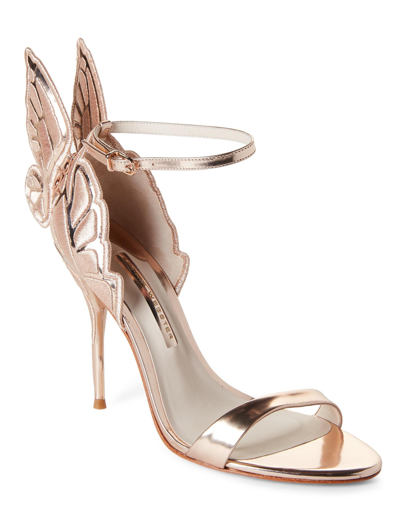 9a01c957949e Sophia Webster Rose Gold Chiara Embroidered Butterfly Winged High ...