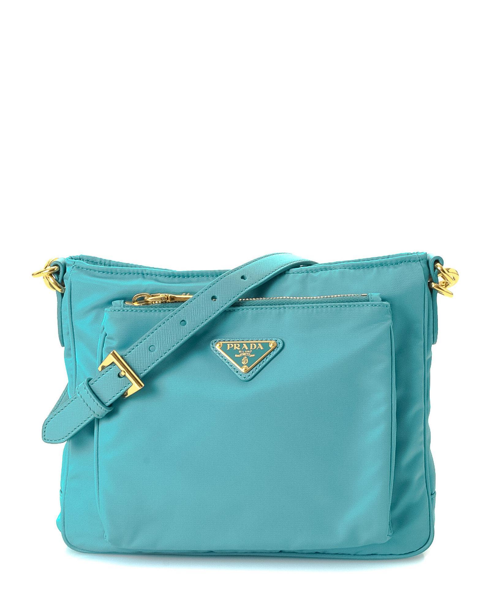 9811270dfd0882 ... get prada blue tessuto crossbody bag vintage lyst. view fullscreen  4514f 3463a