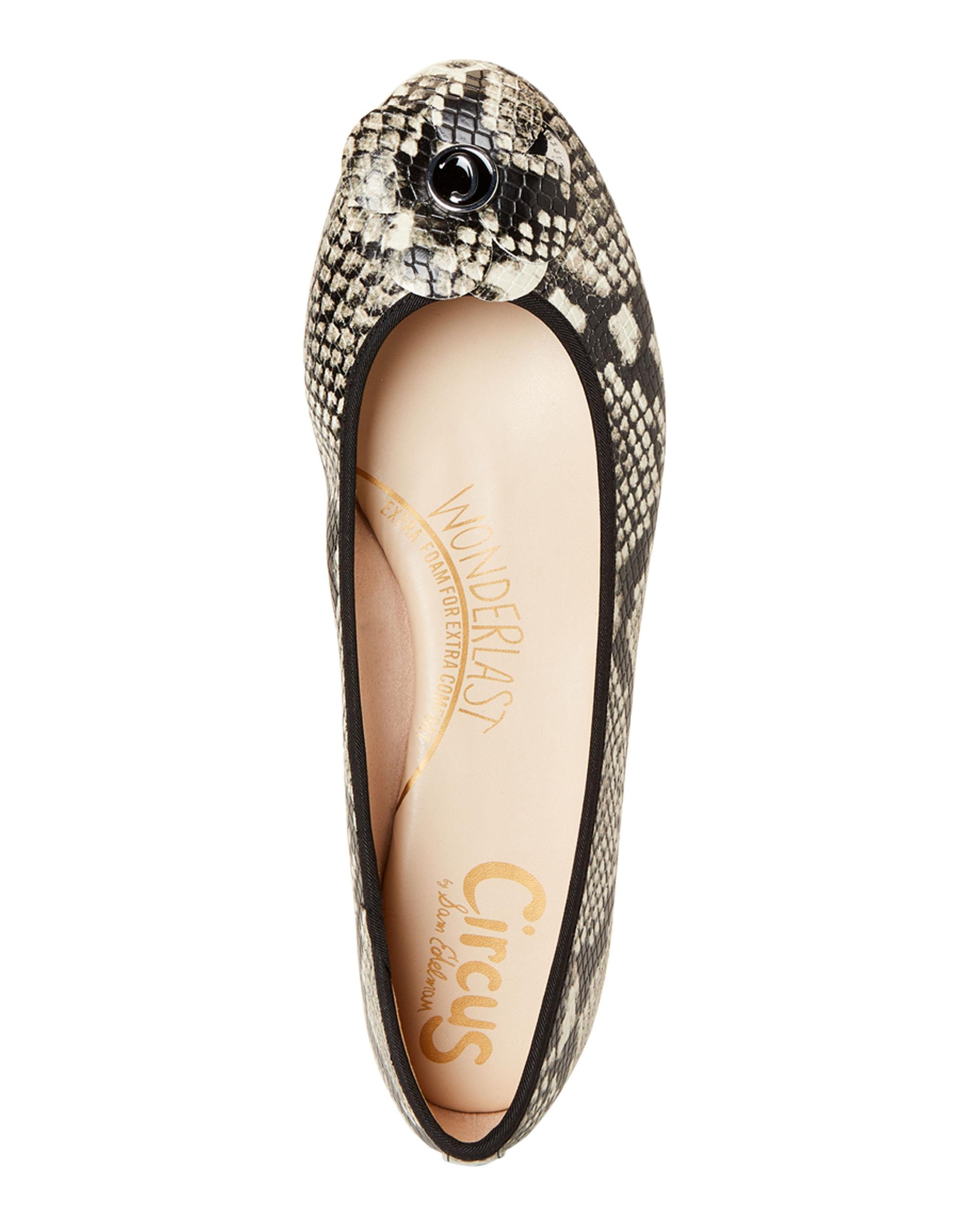 6a954d13f68969 Circus by Sam Edelman Cashmere Cecilia Snakeskin-effect Floral Flats ...