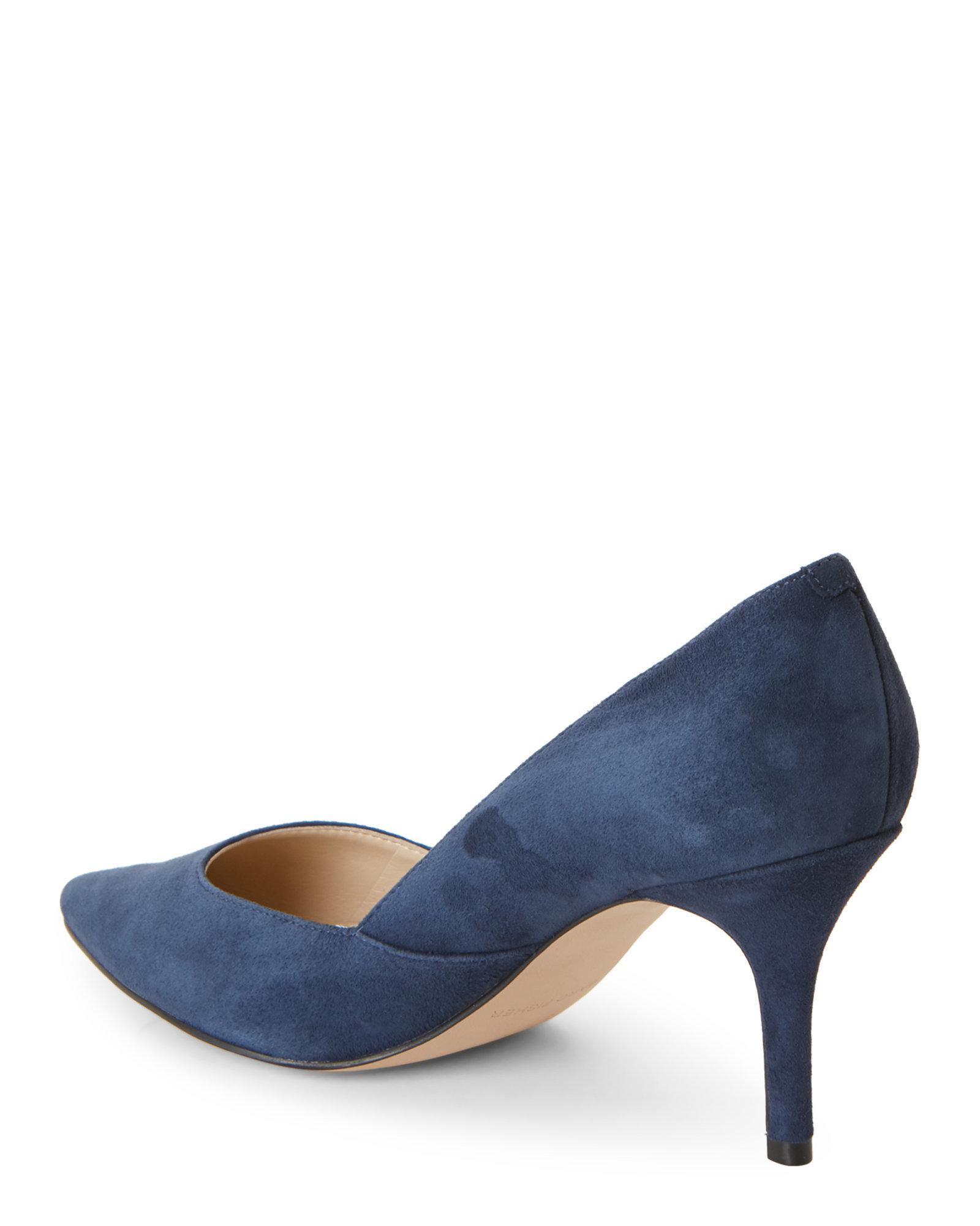 release date: check out closer at Navy Tuscany Pointed Toe Pumps