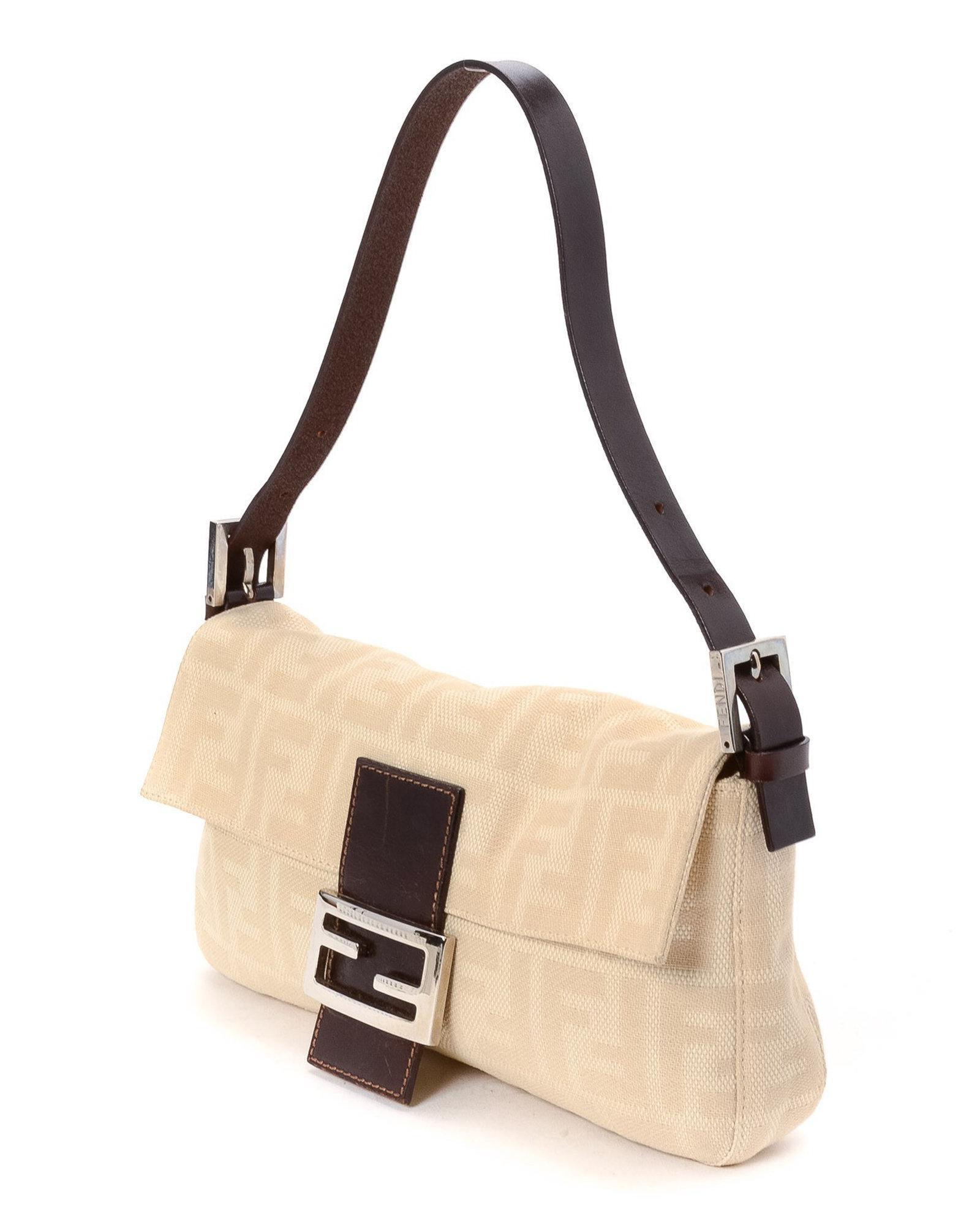 ab186f3d6a Lyst - Fendi Zucca Baguette Bag - Vintage in Natural
