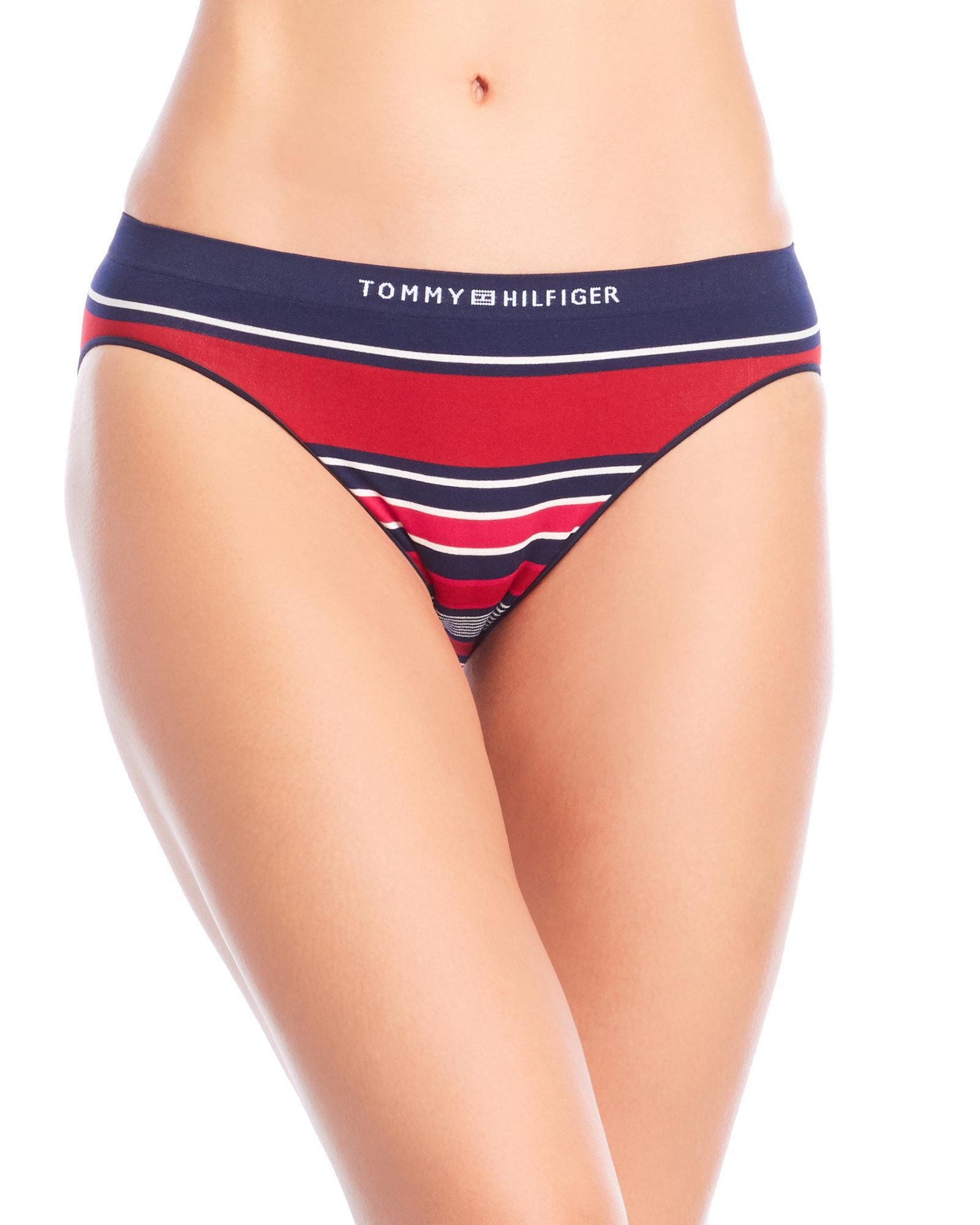 6d9bd1b4a4 Lyst - Tommy Hilfiger Two-Pack Seamless Bikini Panty in Blue