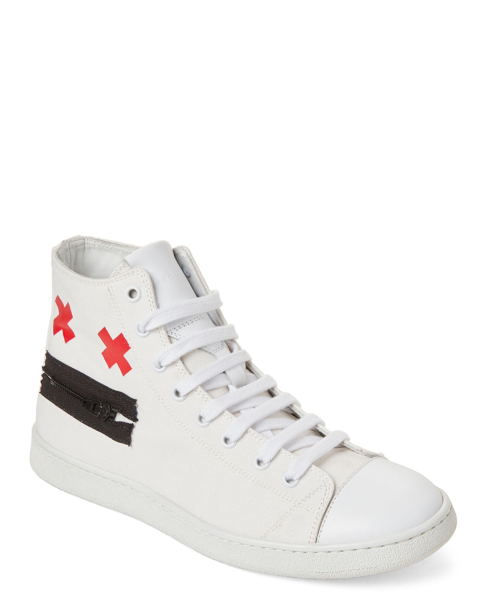 utlopp till salu bästa online kupongskod Marc Jacobs White Zip Face Canvas High-top Sneakers for Men - Lyst
