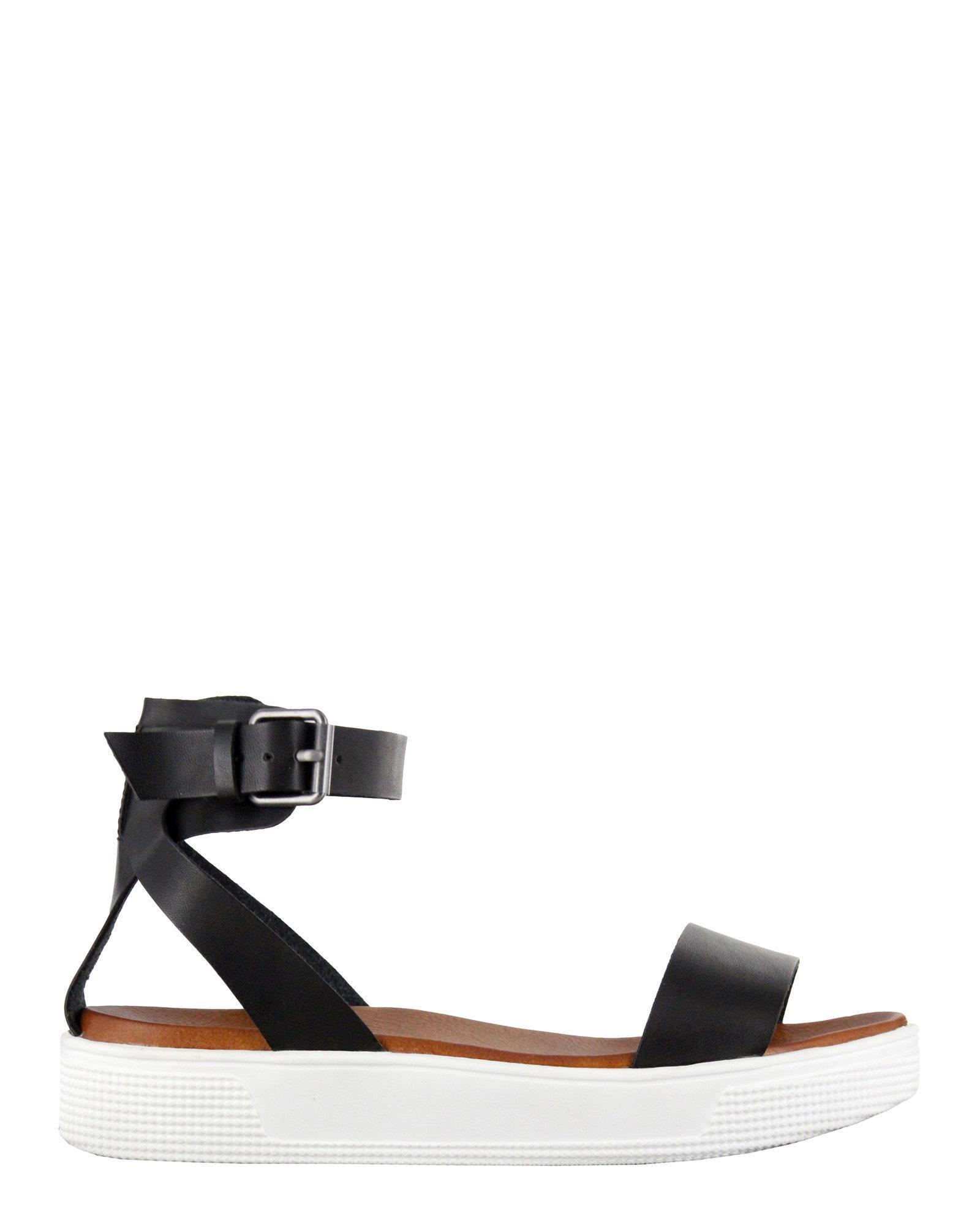 4ad03ce3ce72 Lyst - MIA Black Ellen Ankle Strap Sandals in Black
