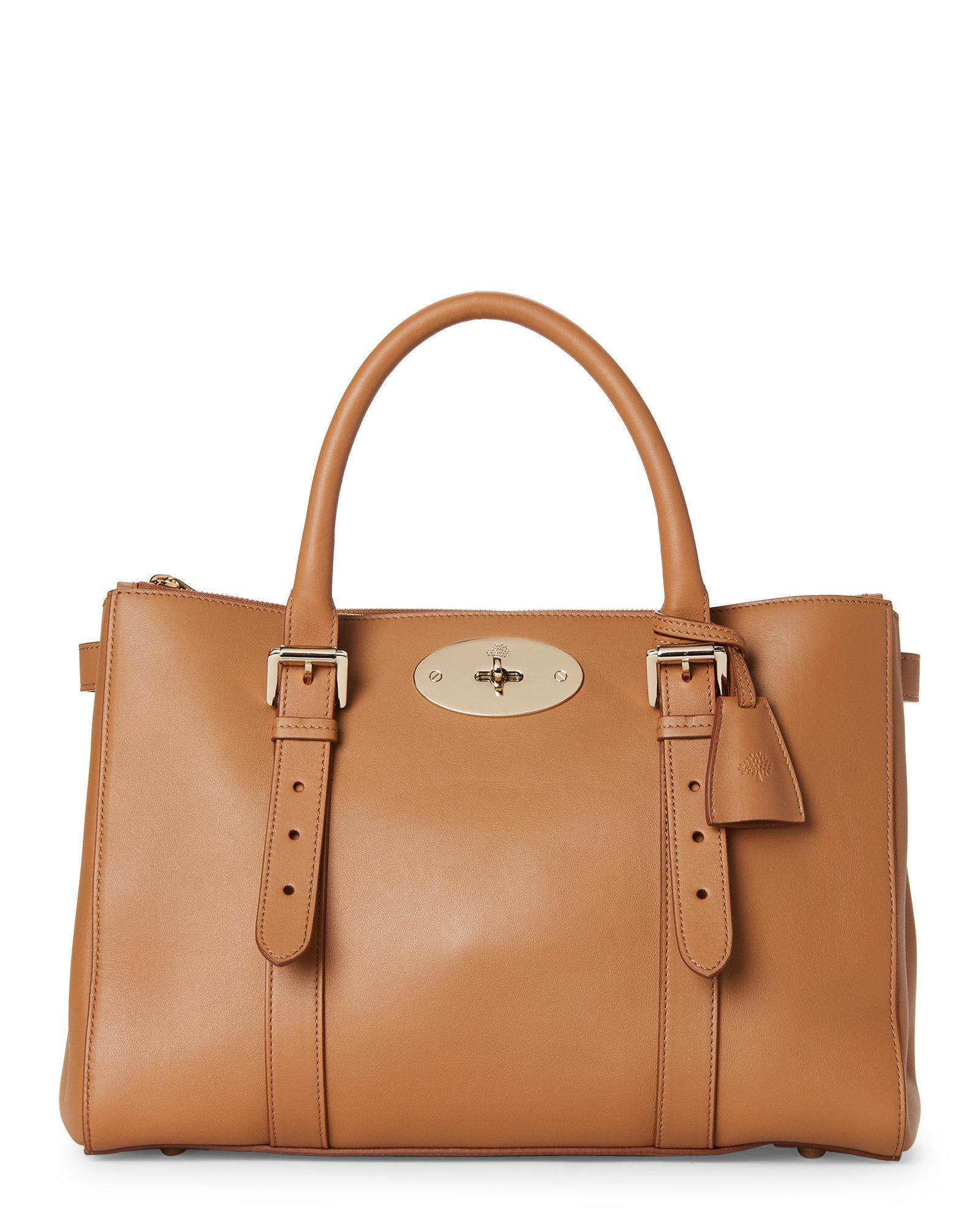 Lyst - Mulberry Deer Brown Bayswater Leather Double-zip Tote in Brown 0121c9b8fc9db