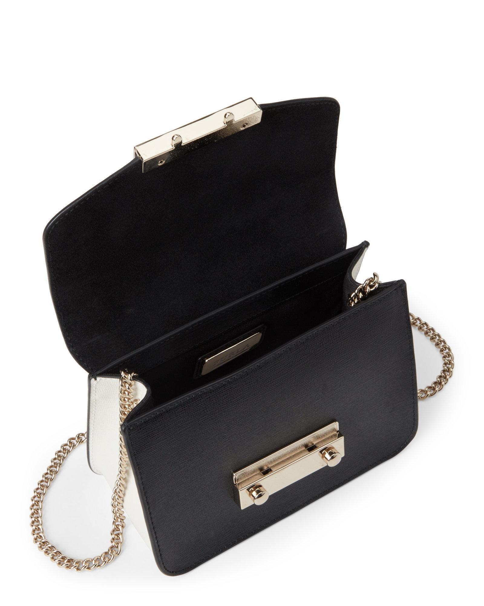 9bcce0f7fde Lyst - Furla Julia Saffiano Leather Mini Crossbody in Black