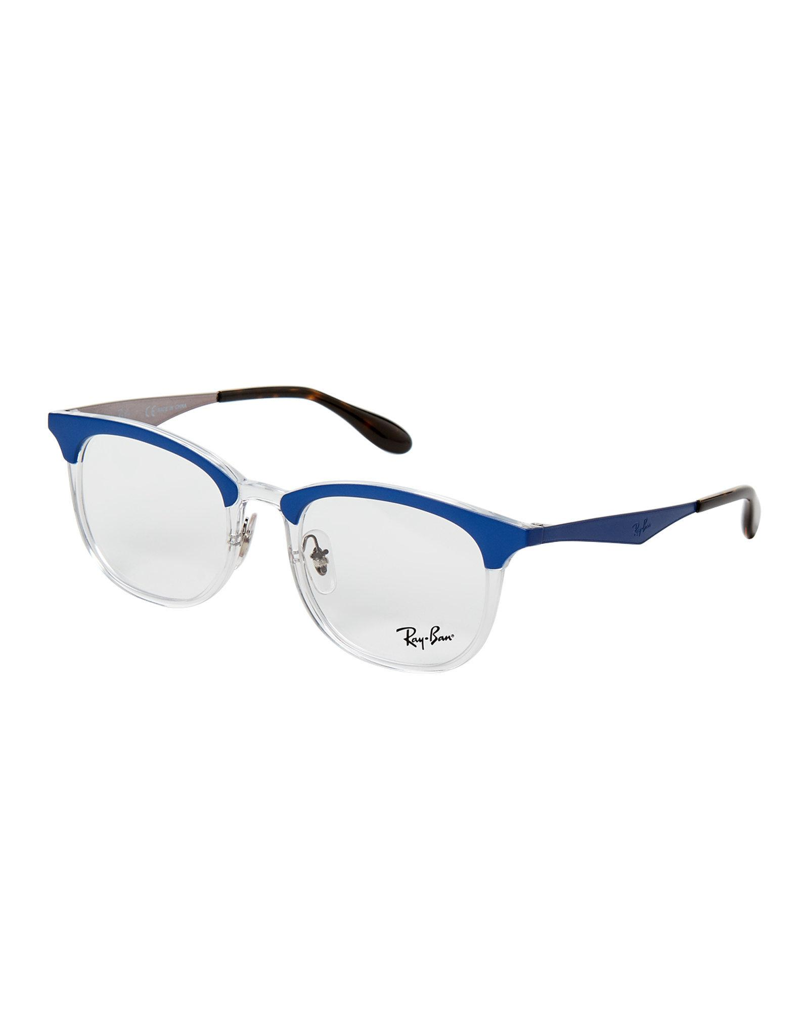 f709d644f6b Lyst - Ray-Ban Rb 7112 Blue   Clear Round Optical Frames in Blue for