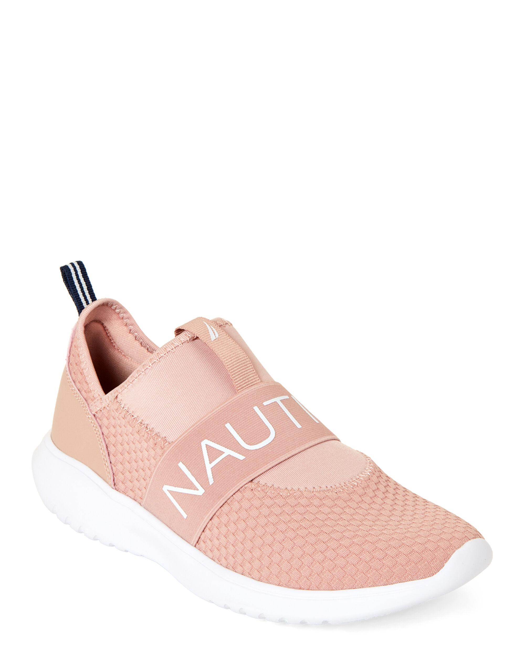 blush pink slip on sneakers discount