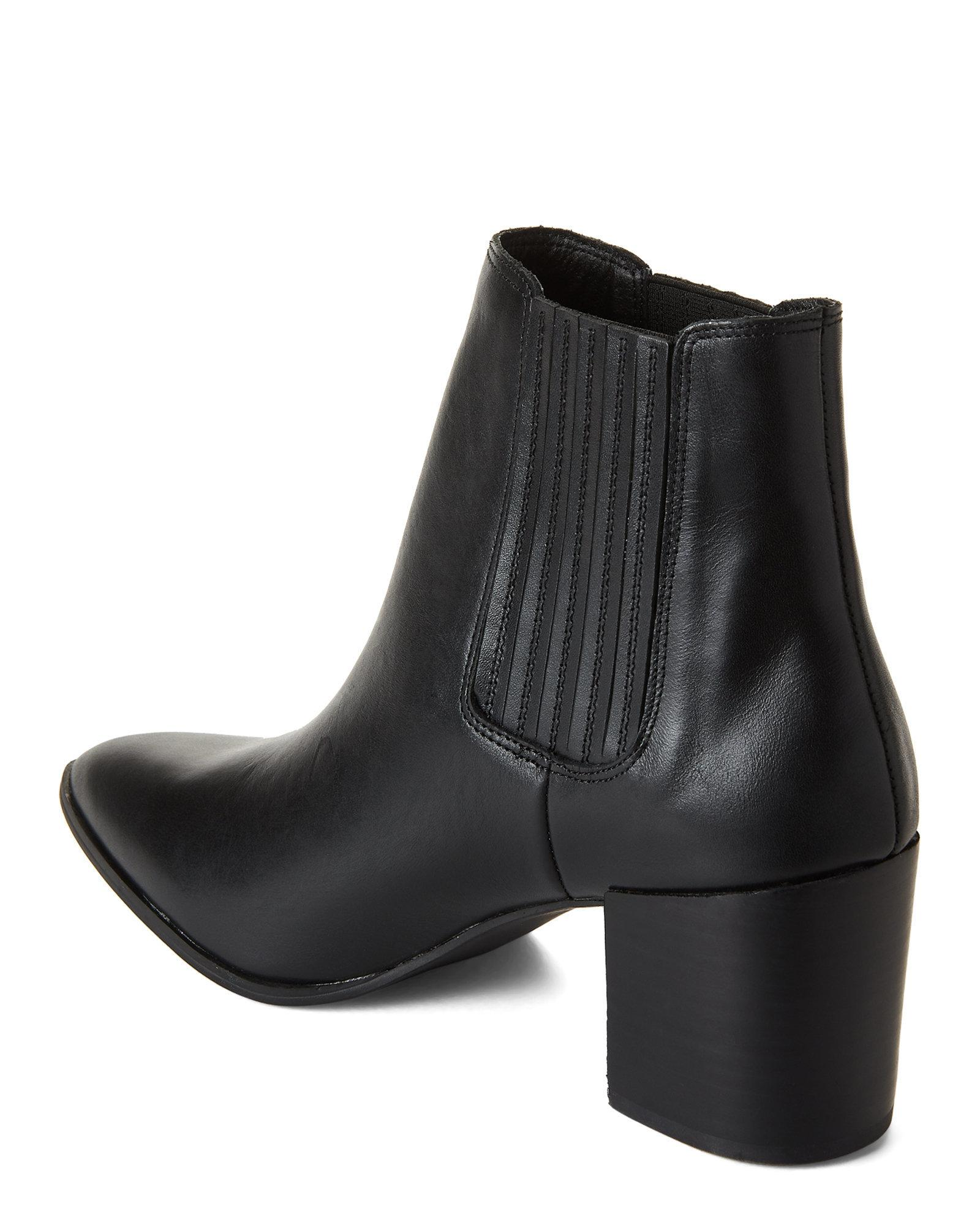 a54a3f226fb Steve Madden Black Jain Leather Short Booties