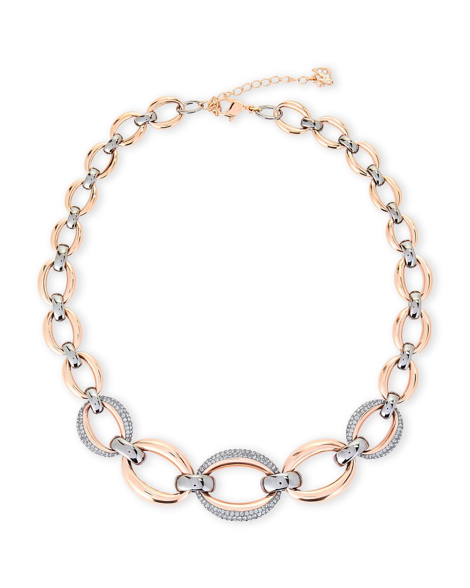 623216bd545c6 Swarovski Multicolor Two-tone Circlet Necklace