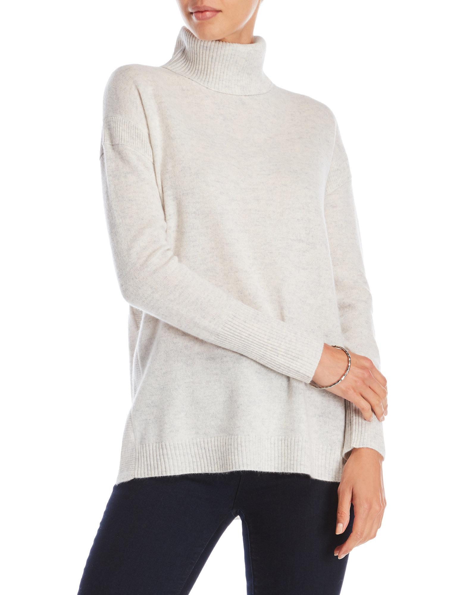 Ply cashmere Cashmere Turtleneck Tunic Sweater | Lyst