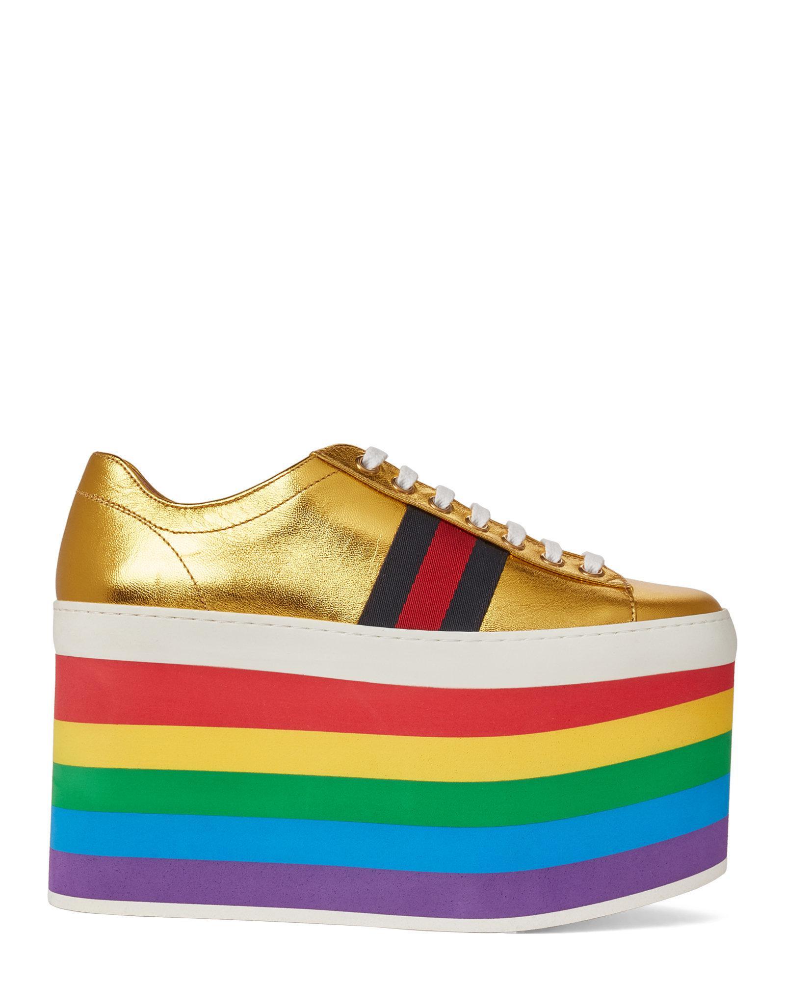 gucci platform rainbow - 60% OFF