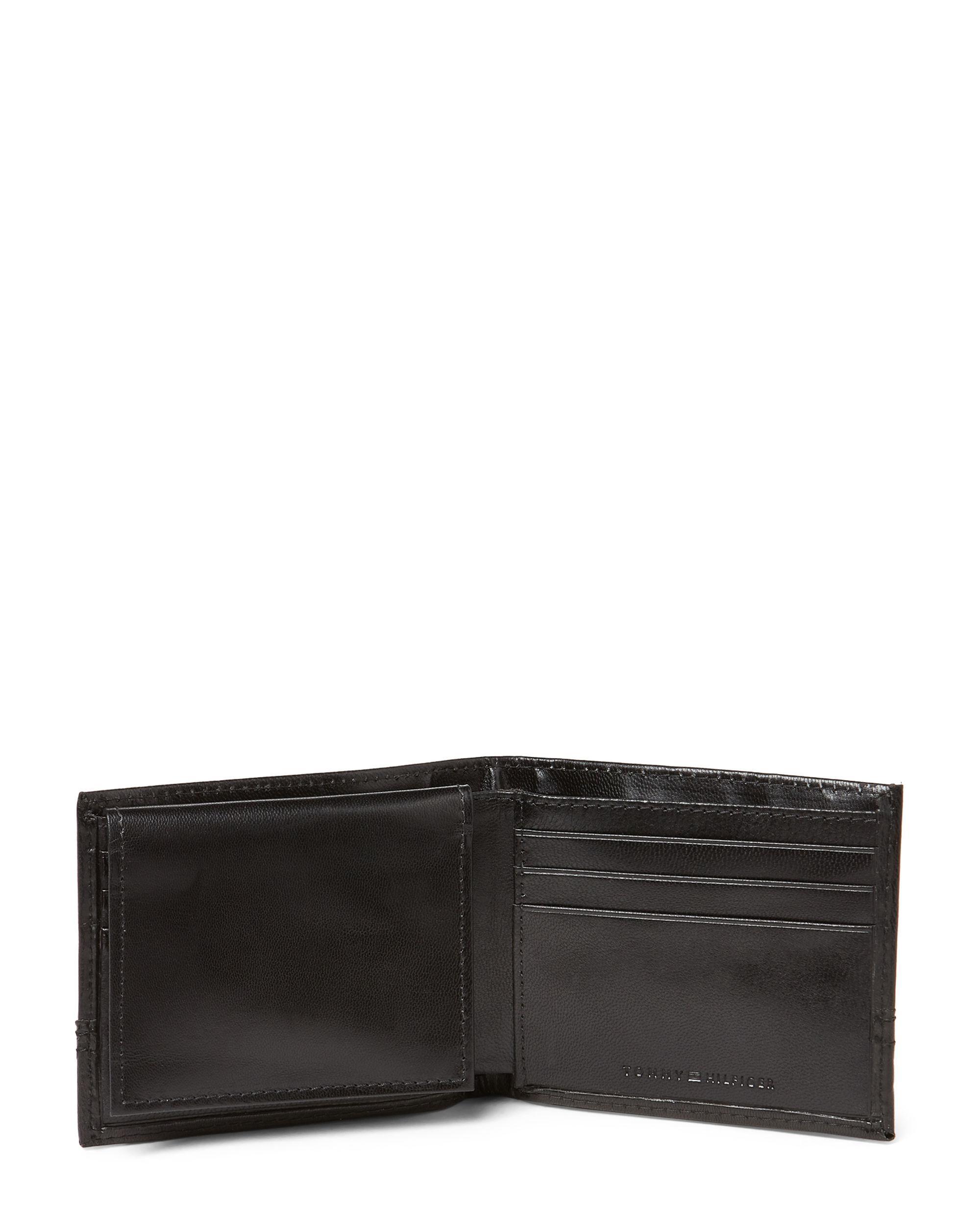 46f800b2 Tommy Hilfiger Brevin Rfid Leather Passcase Wallet in Black for Men ...