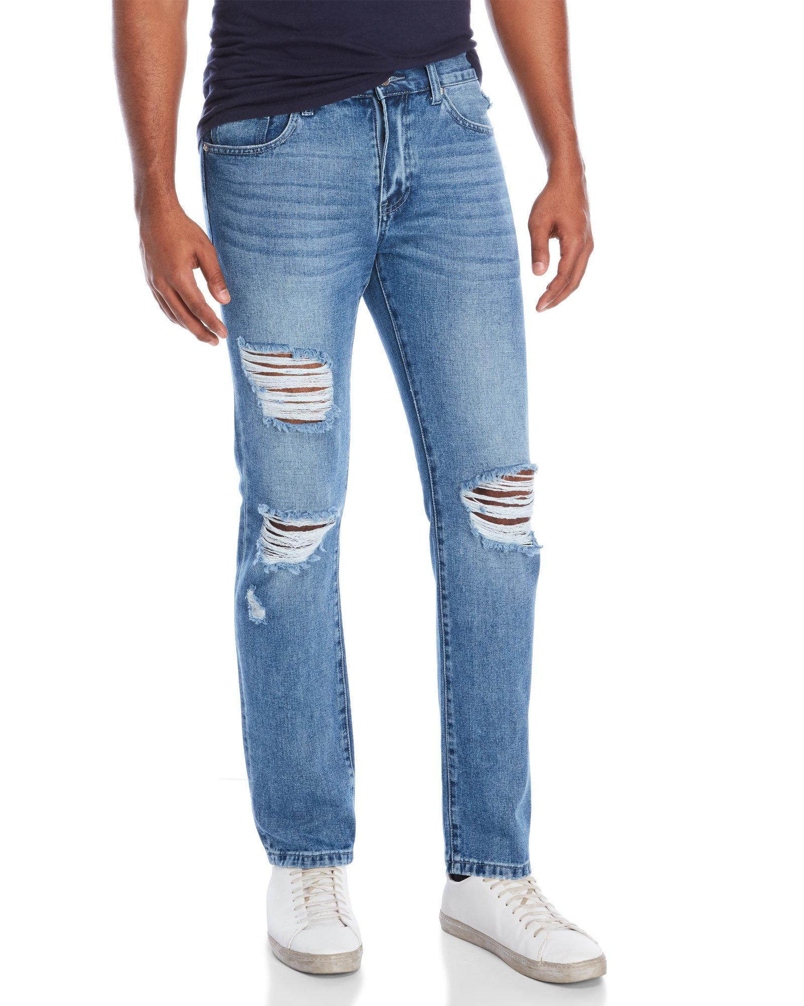 Lyst - Earnest Sewn Barclay Distressed Jeans in Blue for Men