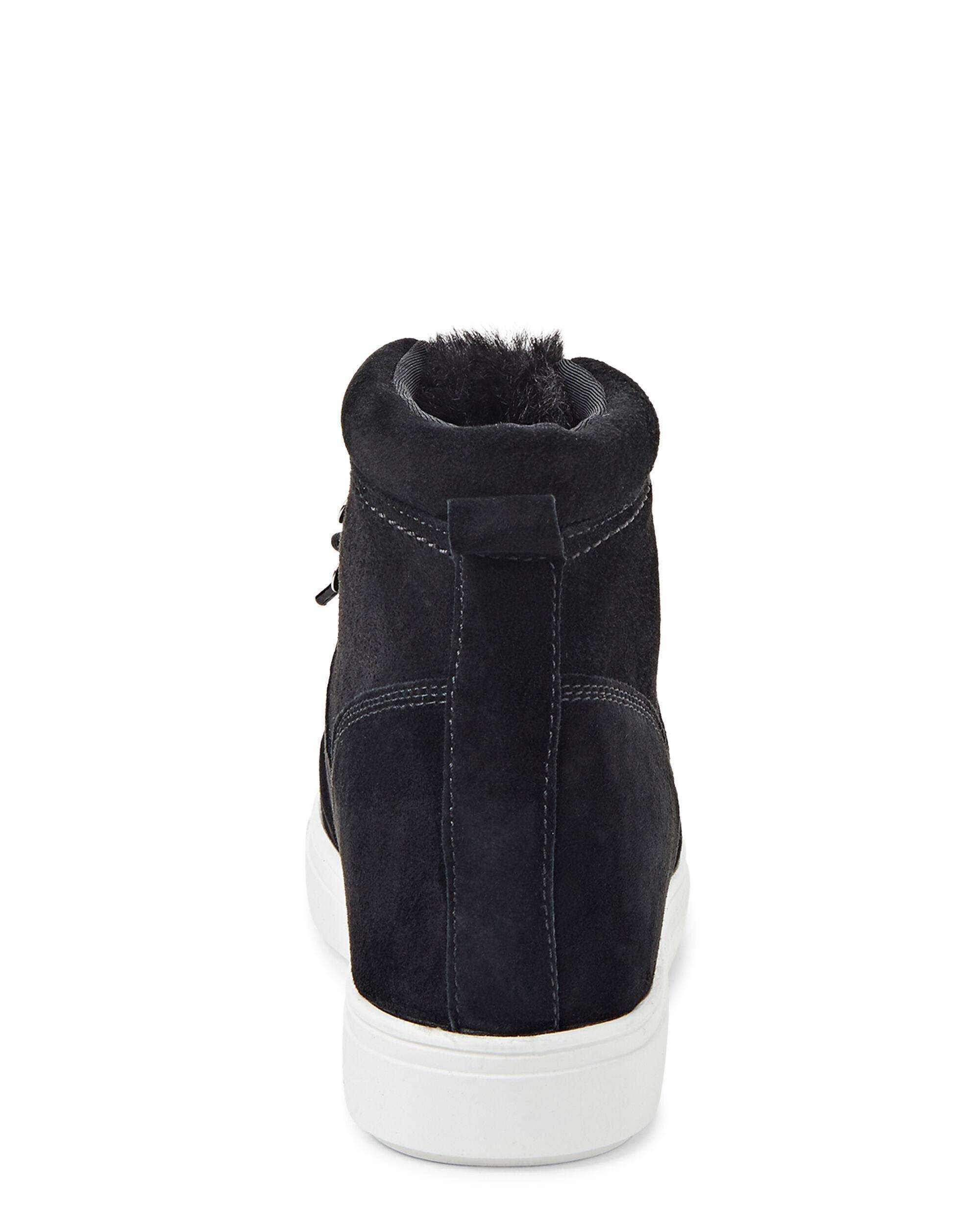 cdb05fe6113 Women's Black Kalea Suede Wedge Sneakers