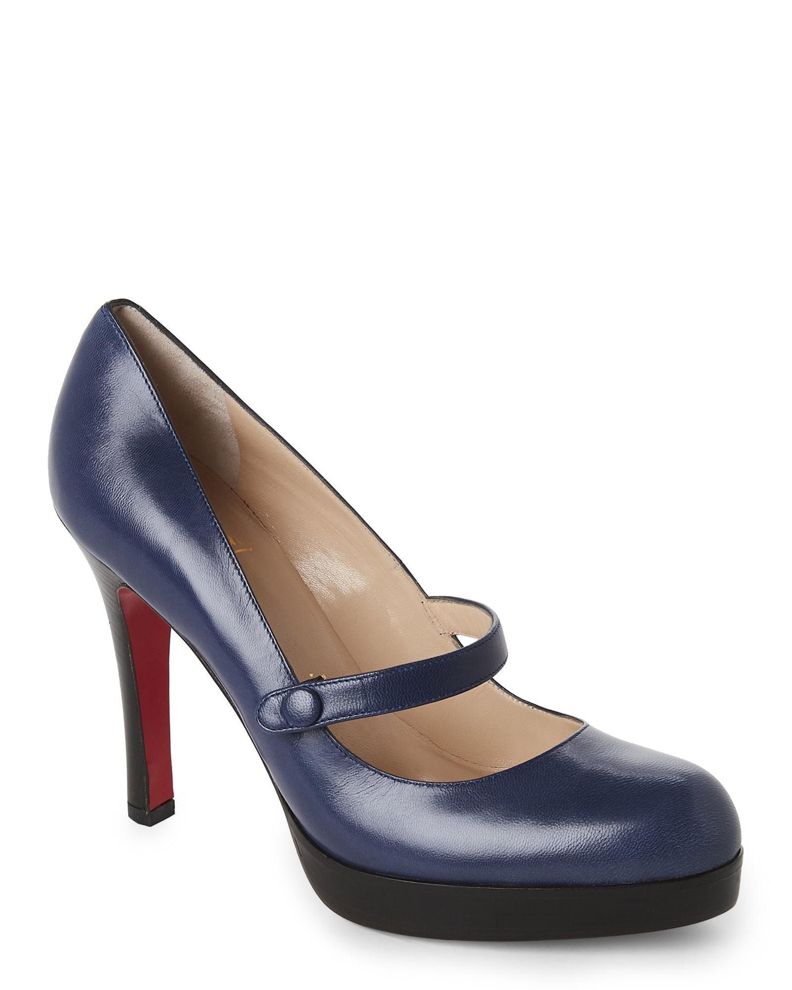 christian louboutin mary jane platform pump