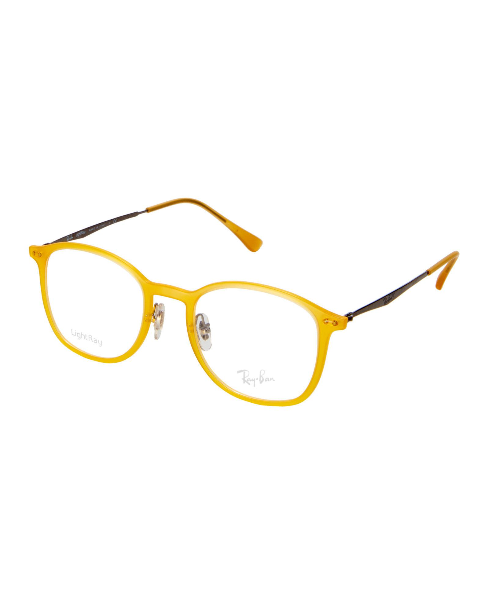 Lyst - Ray-Ban Rb7051 Yellow Round Frames