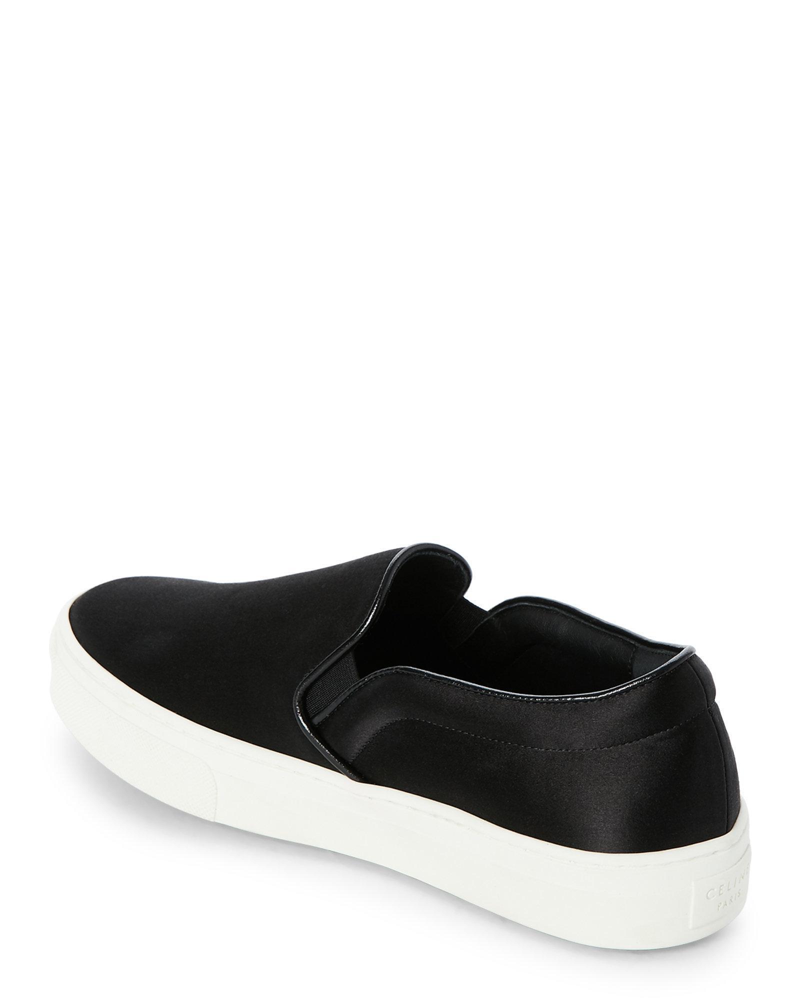 bbfc47c4d379 Lyst - Céline Black Satin Platform Slip On Sneakers in Black for Men