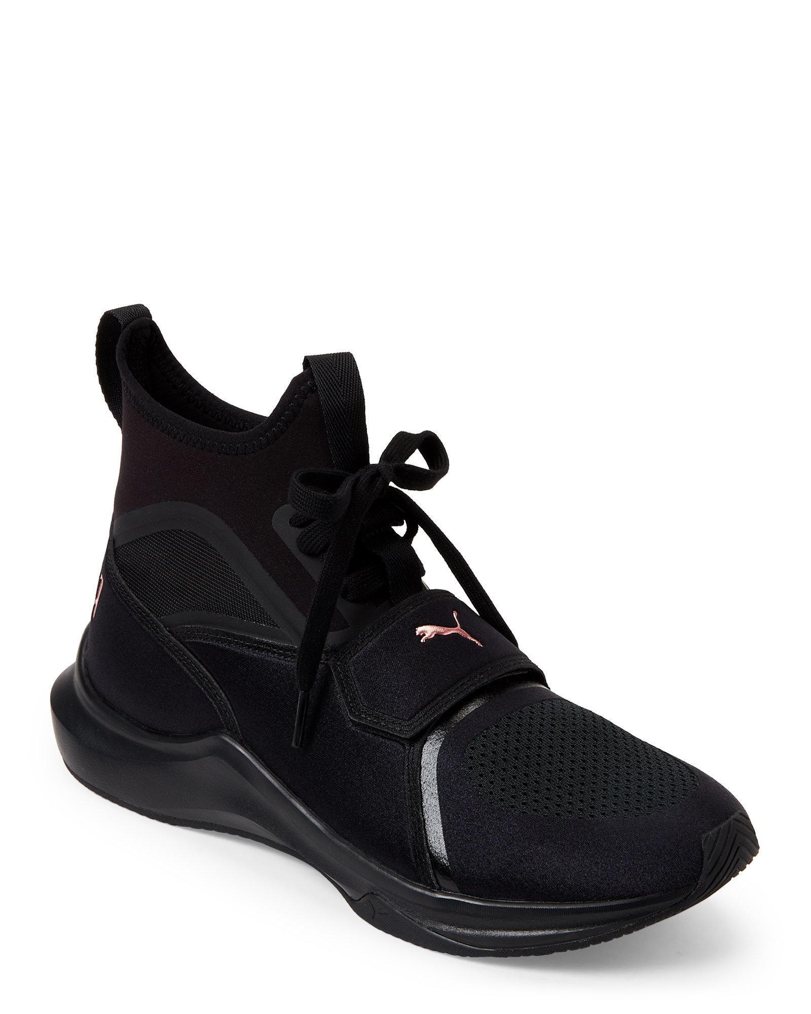 f9e63a13 PUMA Black & Rose Gold Phenom Training Sneakers for men