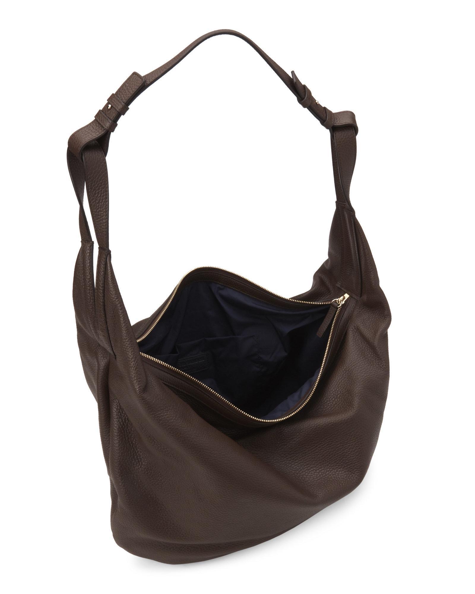 Lyst - Jil Sander Navy Brown Leather Shoulder Bag in Brown db0303c73f2c2