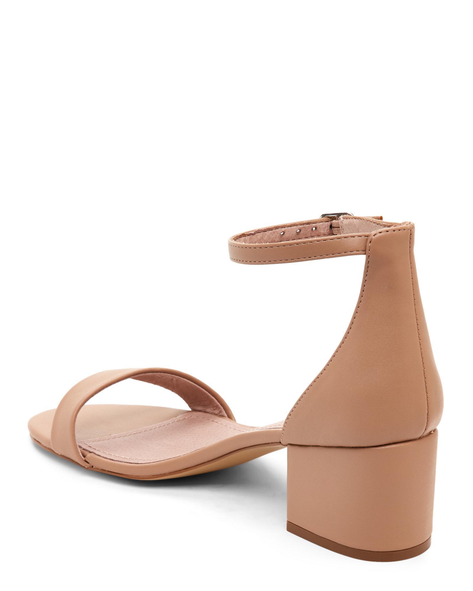 Lyst Steve Madden Blush Ireene Block Heel Two Piece Sandals