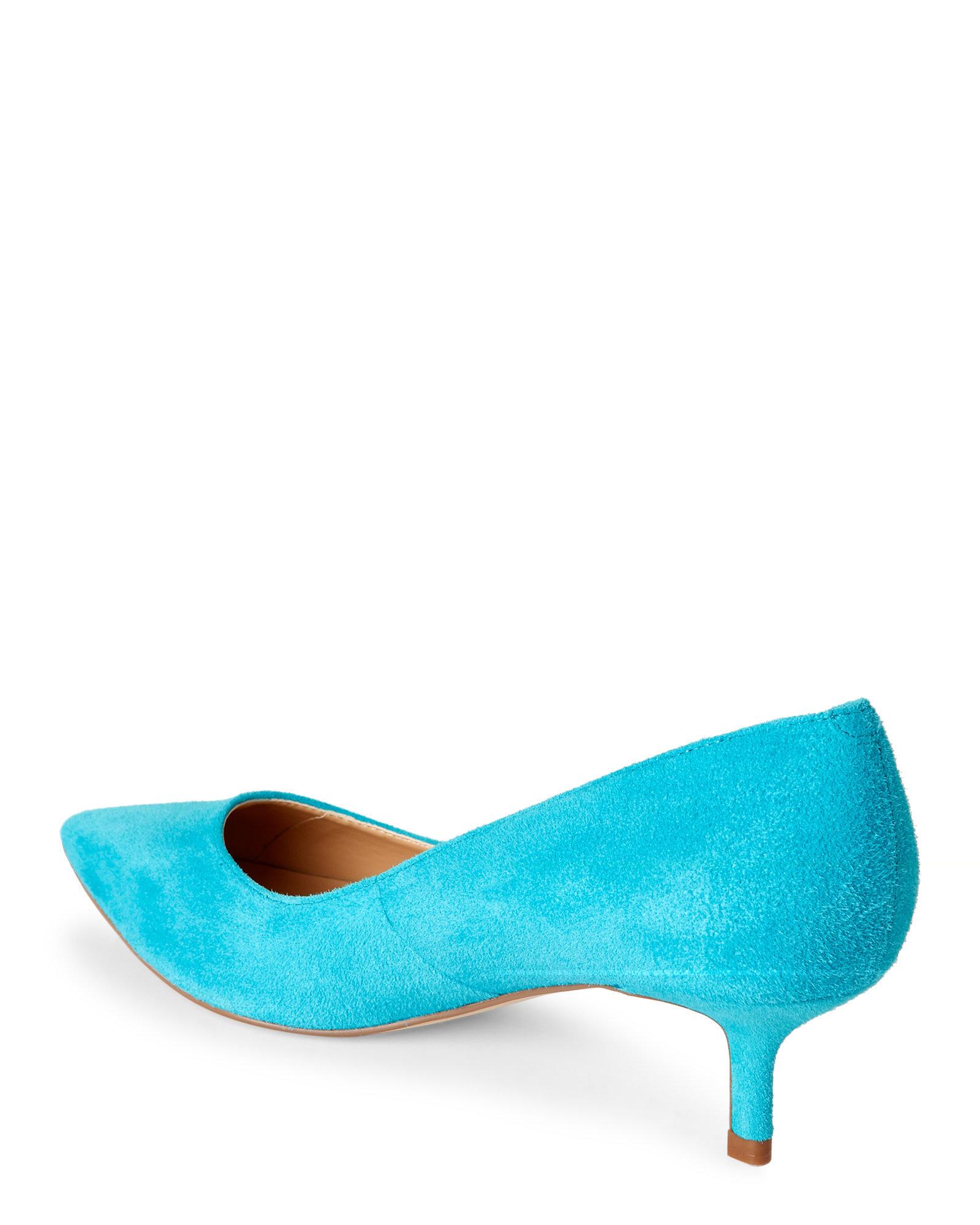 Ivanka trump Turquoise Athyna Pointed Toe Kitten Heel Pumps in ...