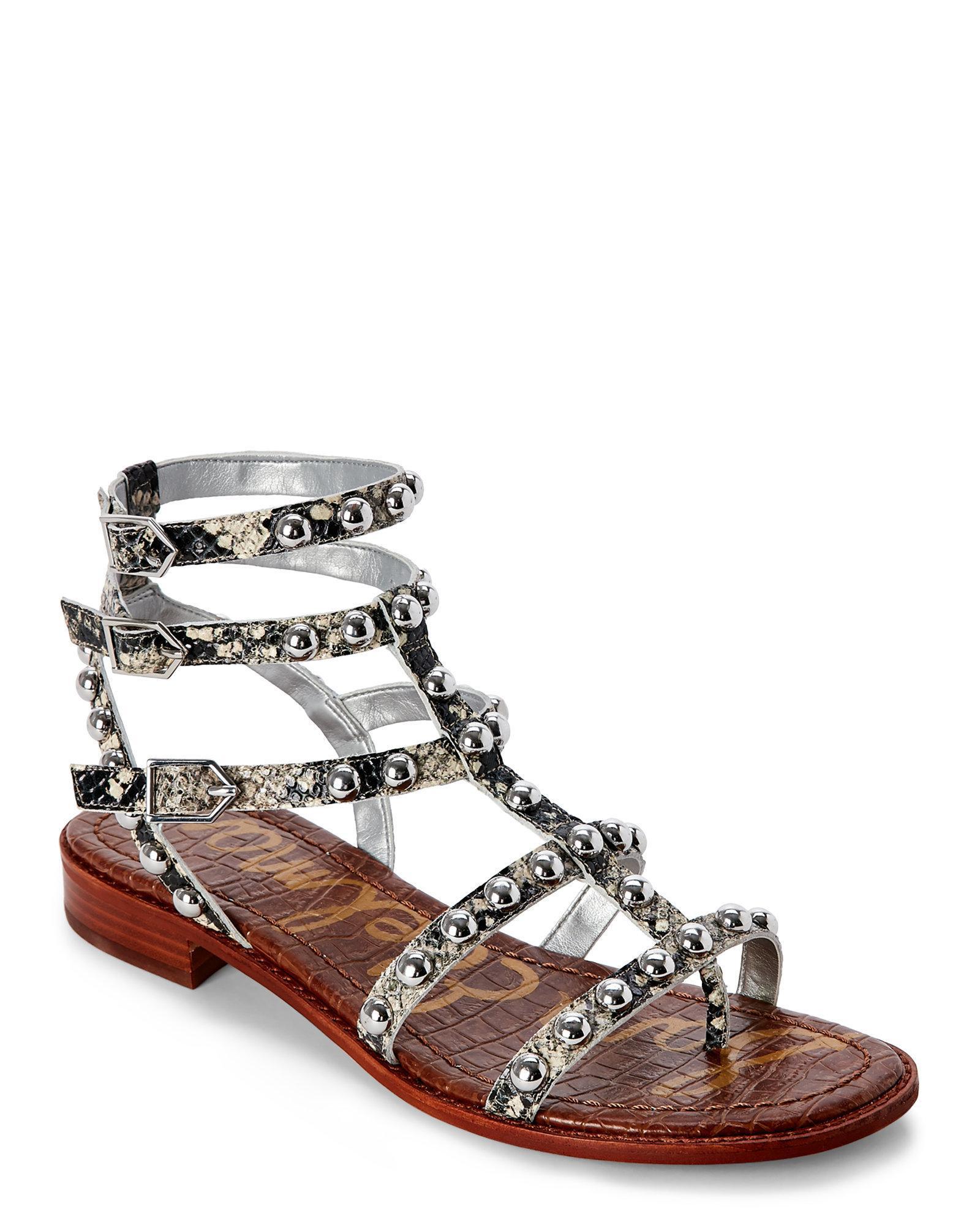 7bd635cd9eaf4c Lyst - Sam Edelman Putty Snake Eavan Studded Gladiator Sandals in ...