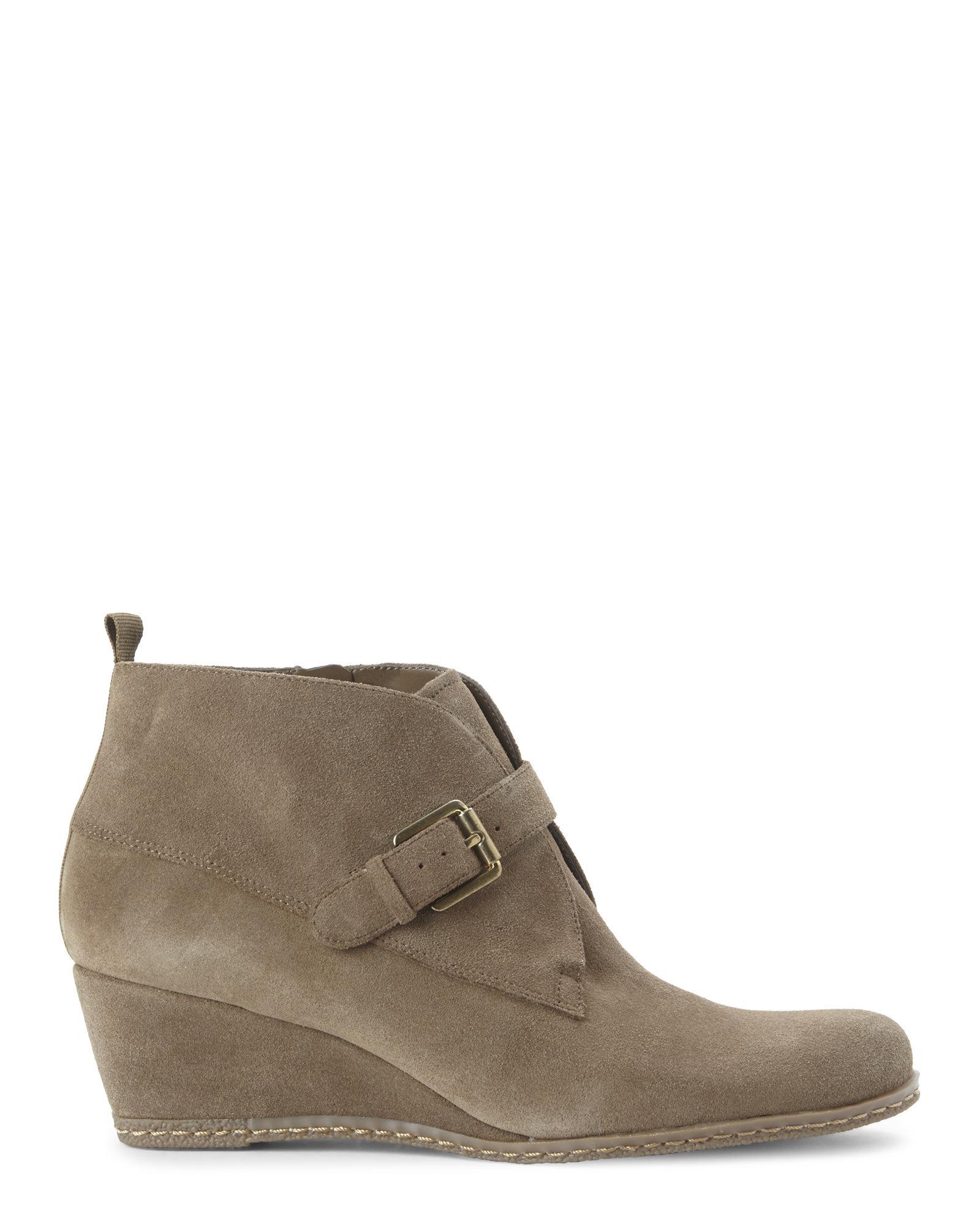 franco sarto khaki amerosa wedge boots in brown lyst