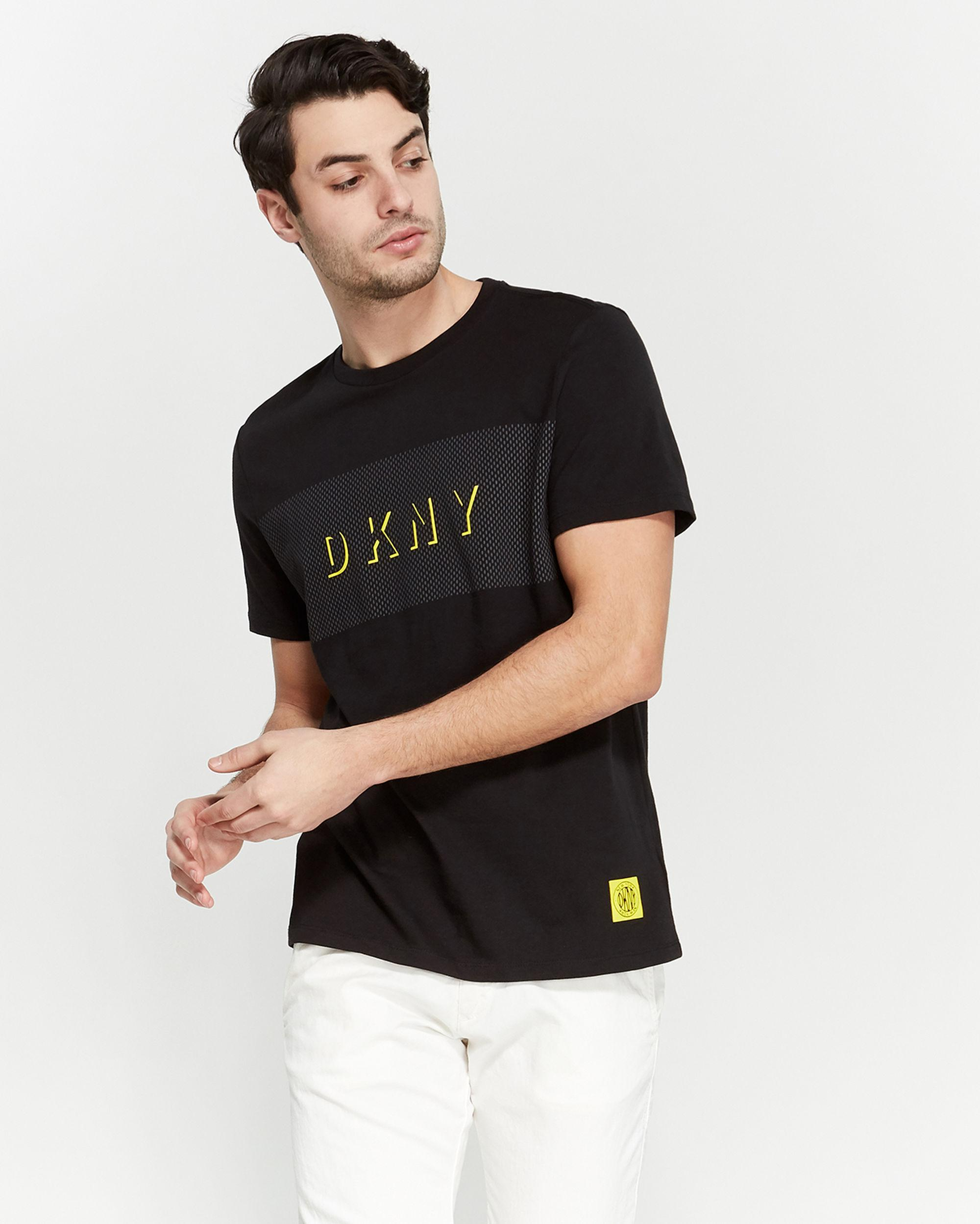 f8f3a7d9ee4c Lyst - DKNY Black Logo Graphic Short Sleeve Tee in Black for Men