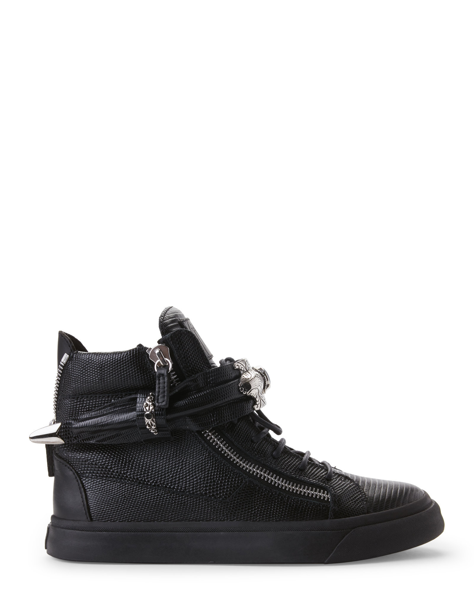 Giuseppe zanotti Ssense Exclusive Black_Out Matte Leather ...