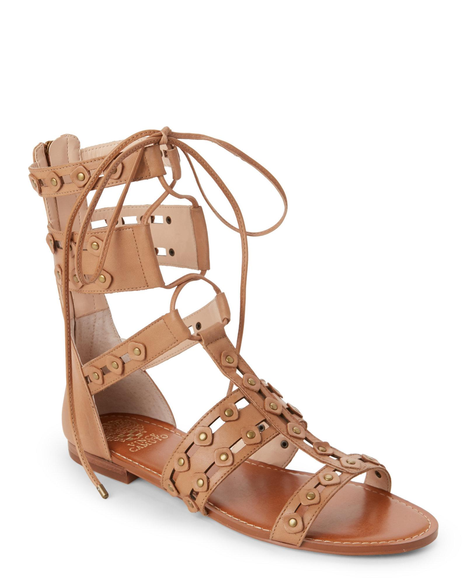 Lyst Vince Camuto Vintage Taupe Malkah Flat Gladiator